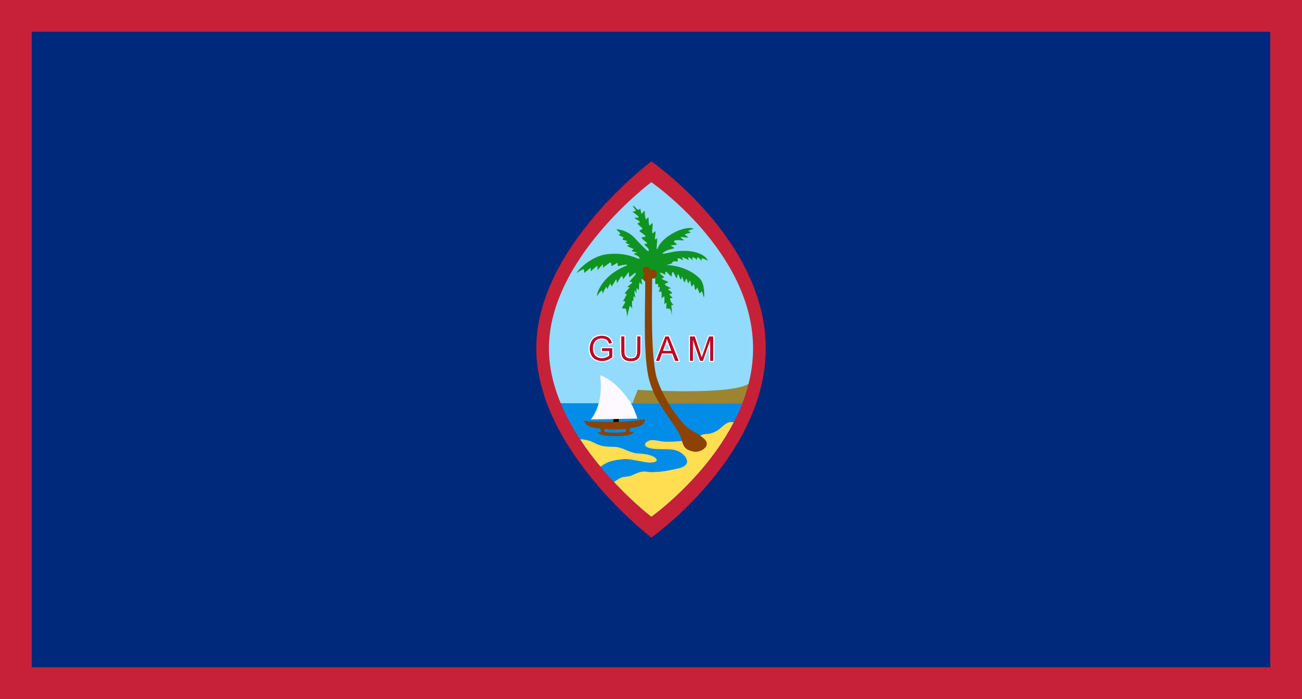 Flag of Guam: JPG PD PNG EPS SVG GIF and more