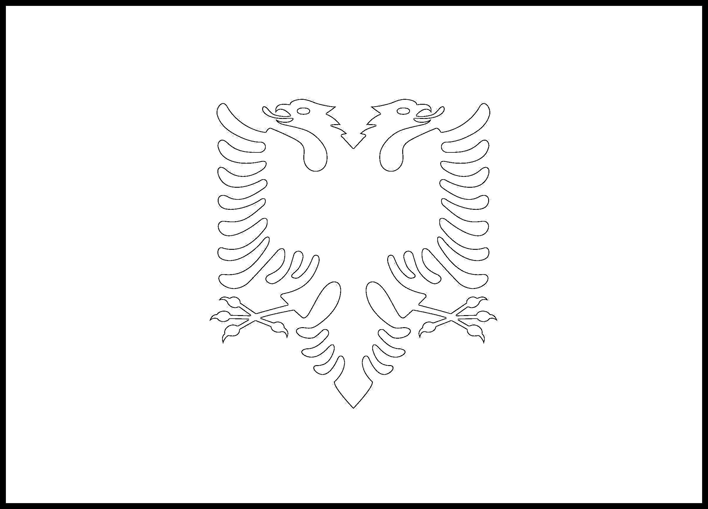 Albania Flag Colouring Page