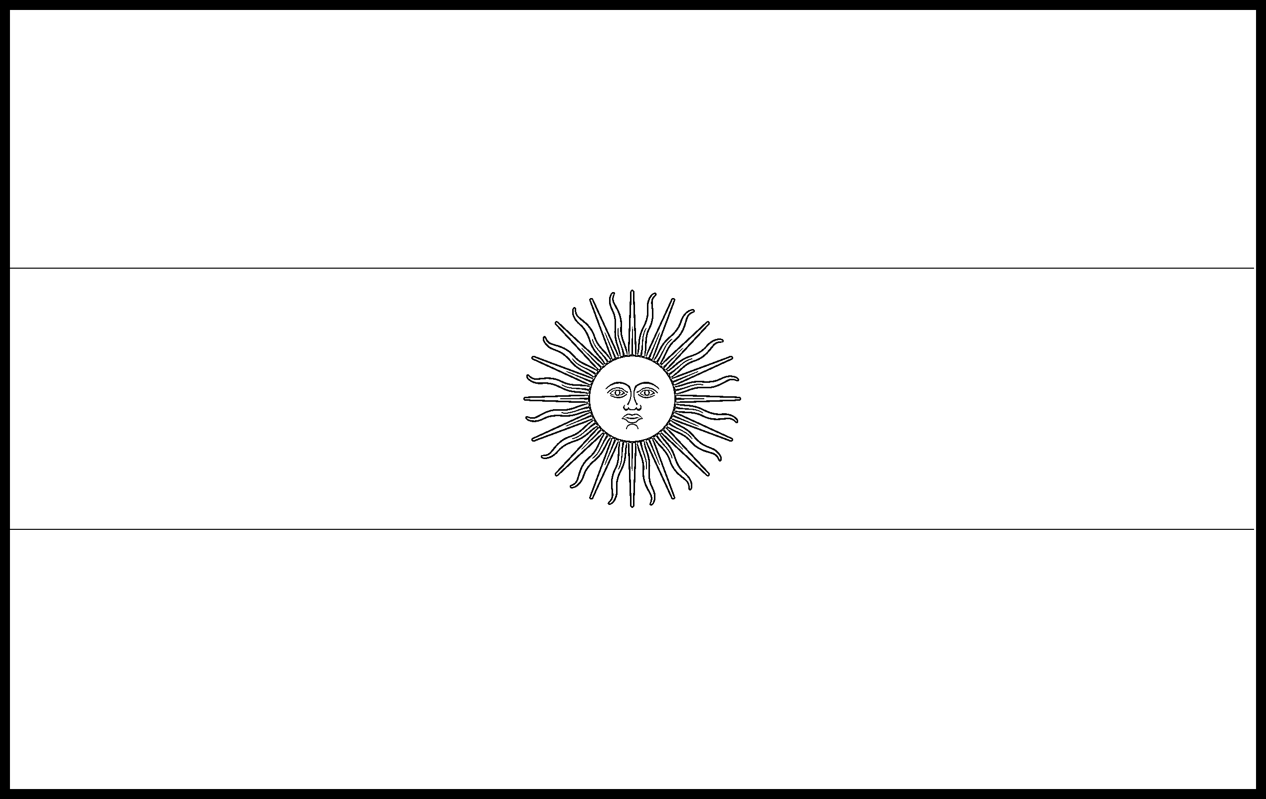 Argentina Flag Colouring Page