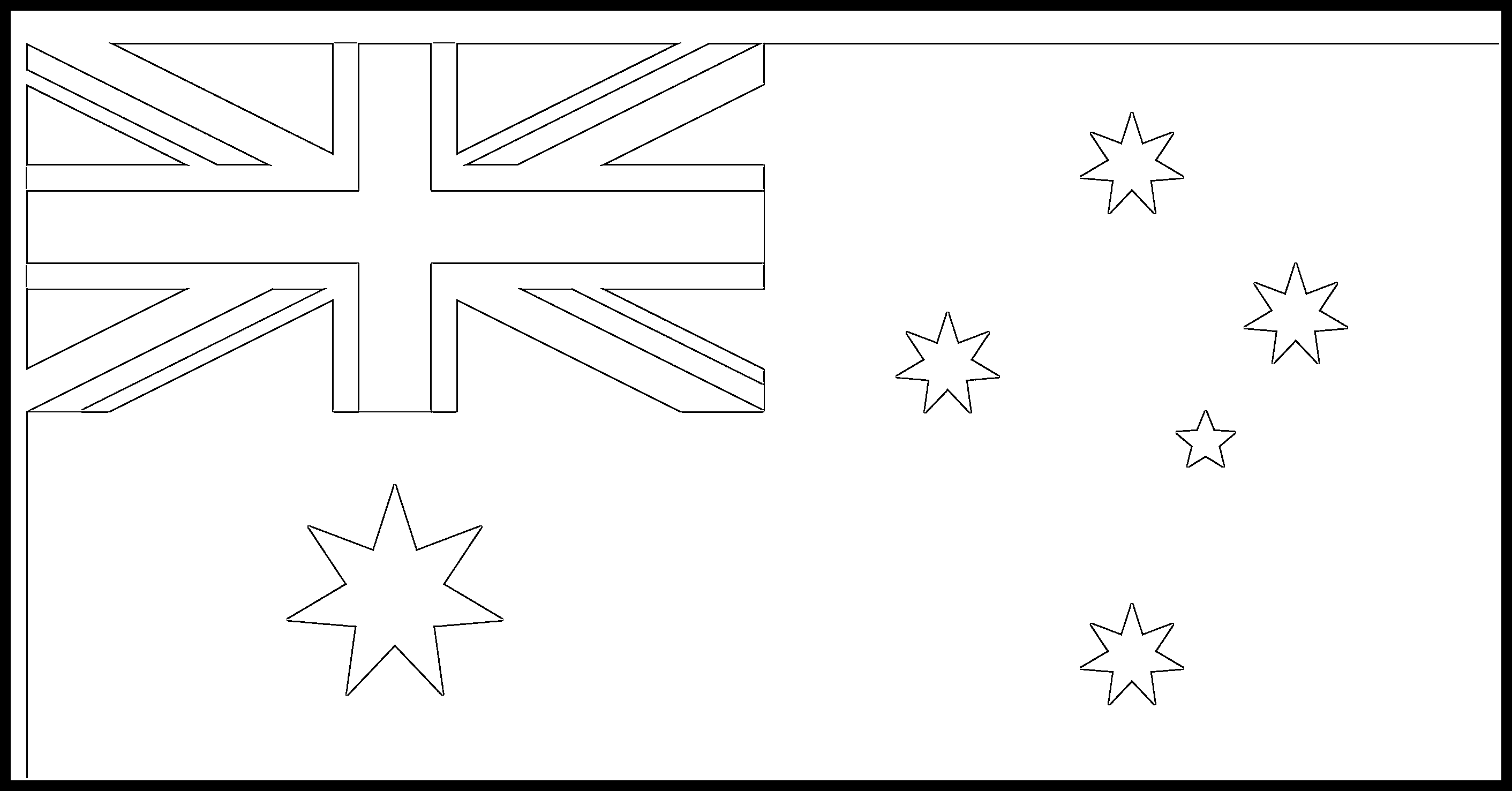 Australia Flag Colouring Page