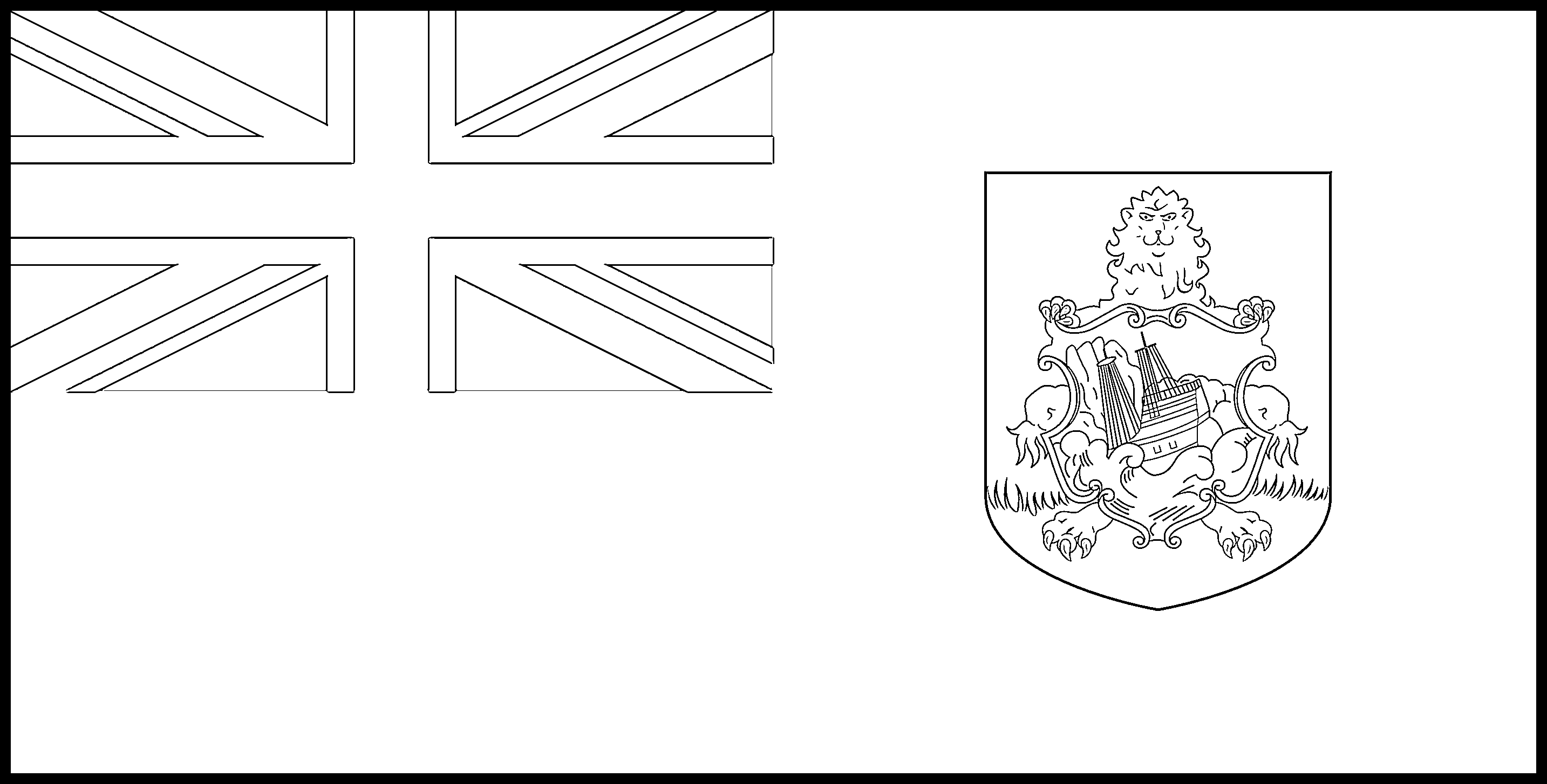Bermuda Flag Colouring Page