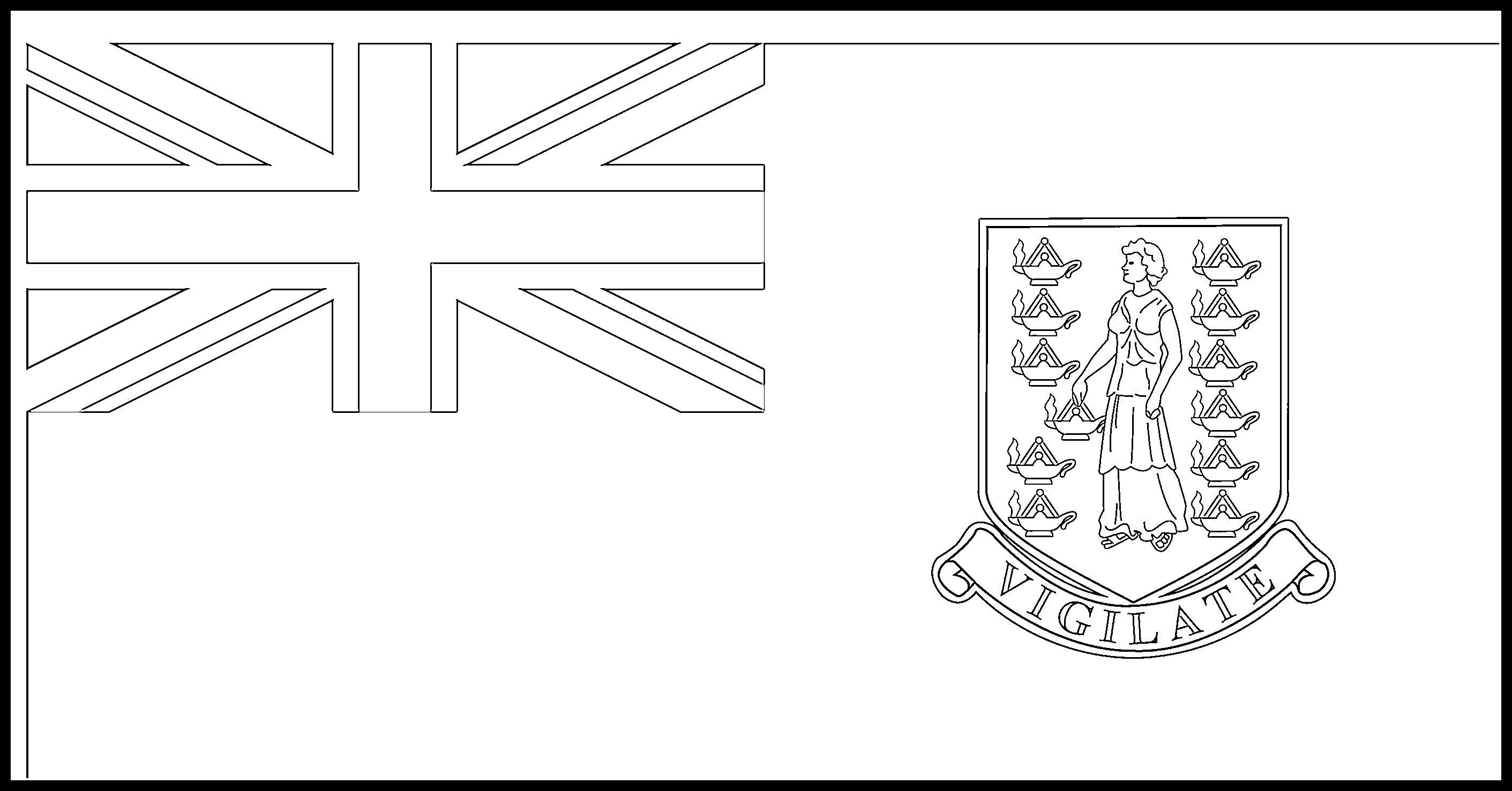 British_Virgin_Islands Flag Colouring Page