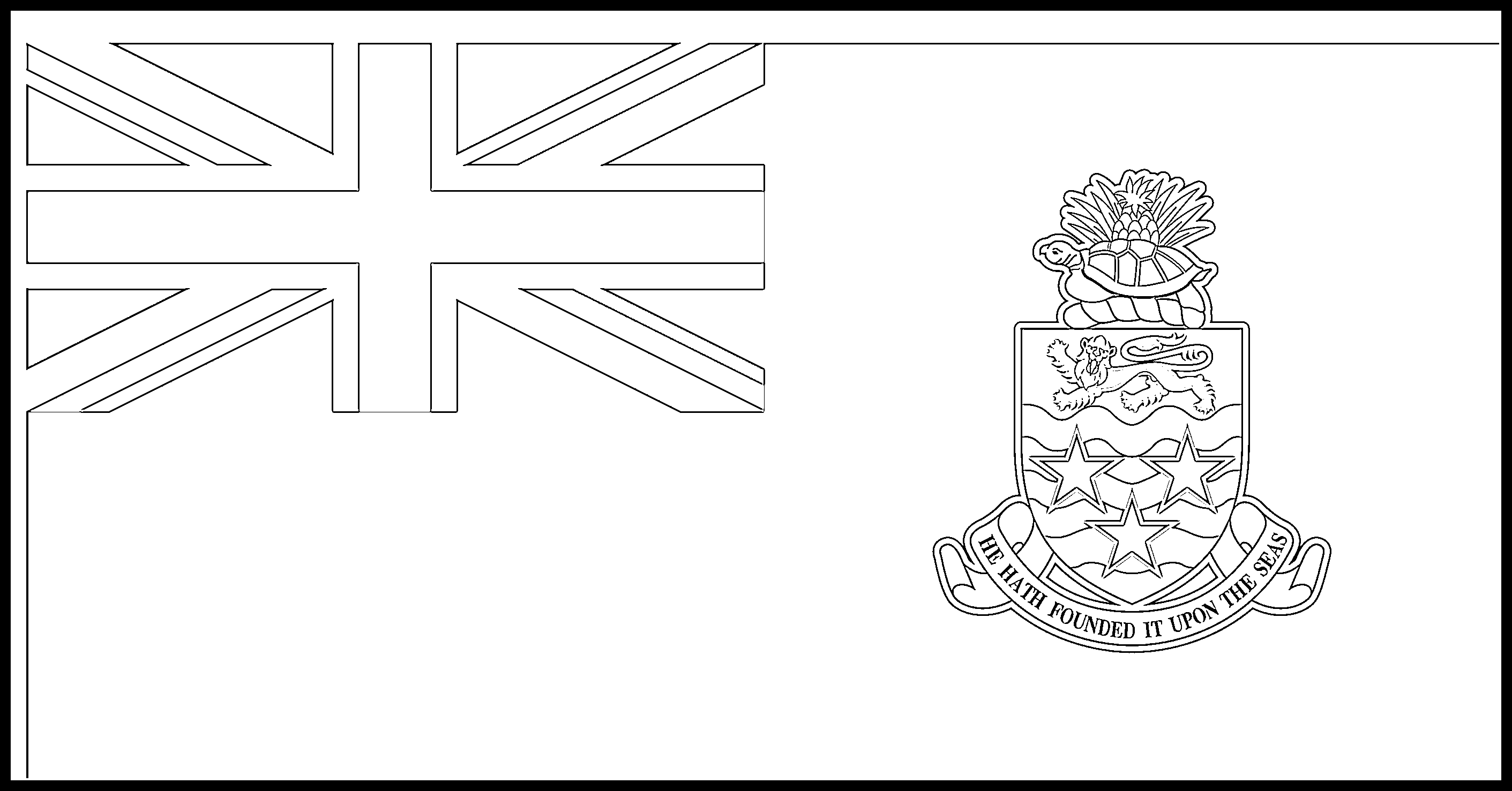 Cayman_Islands Flag Colouring Page
