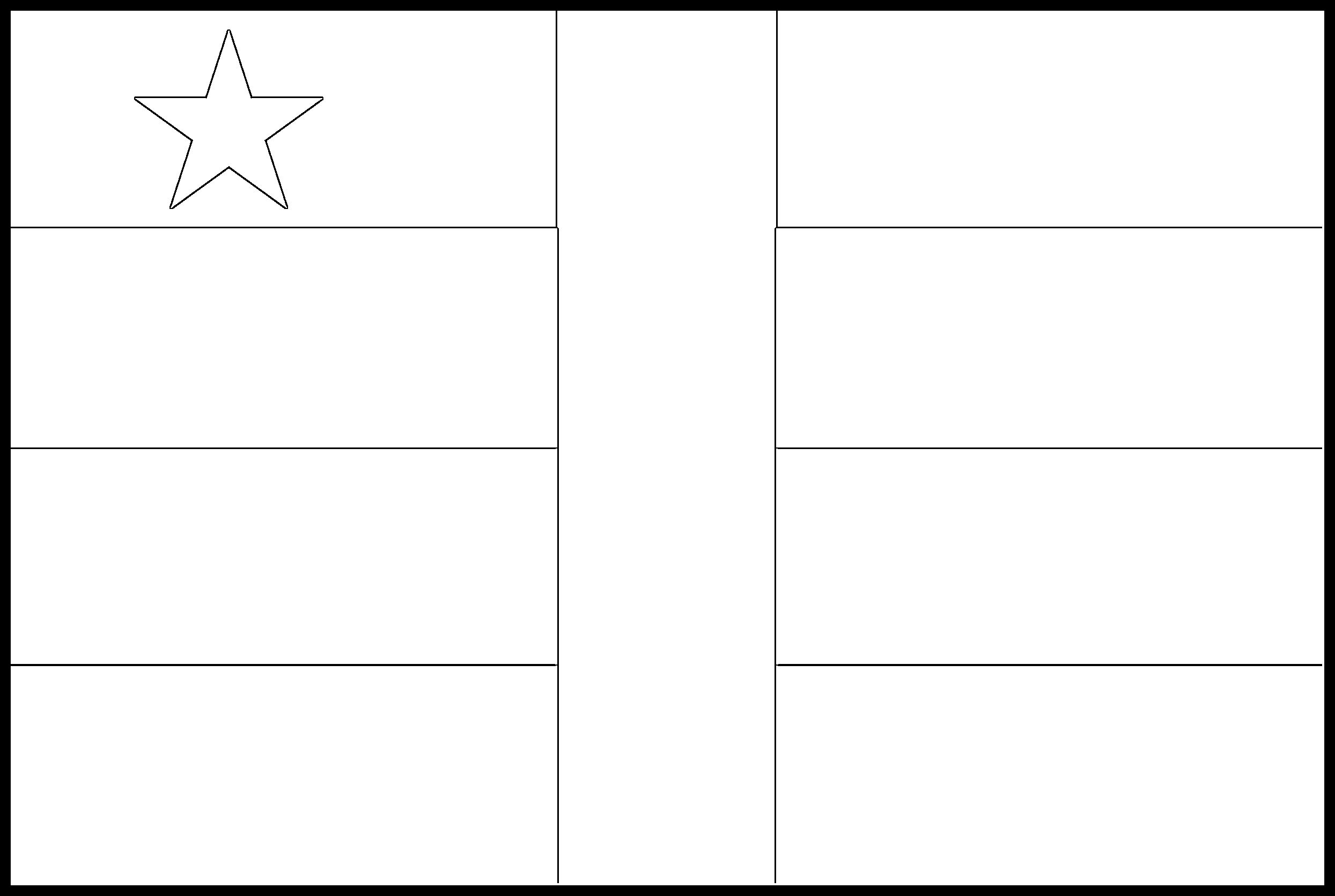 Central_African_Republic Flag Colouring Page