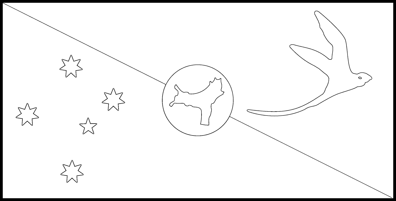 Christmas_Island Flag Colouring Page