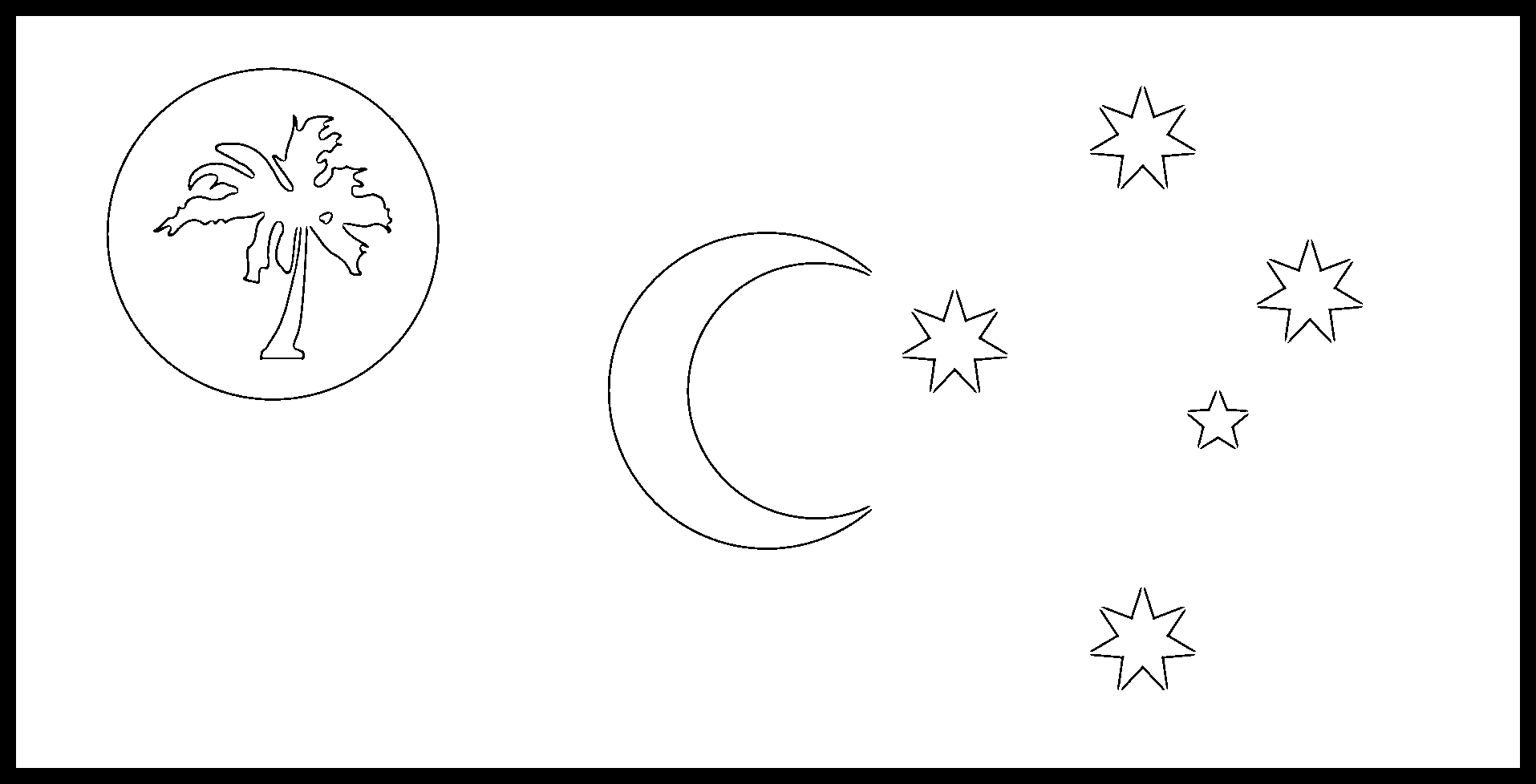 Cocos__Keeling__Islands Flag Colouring Page