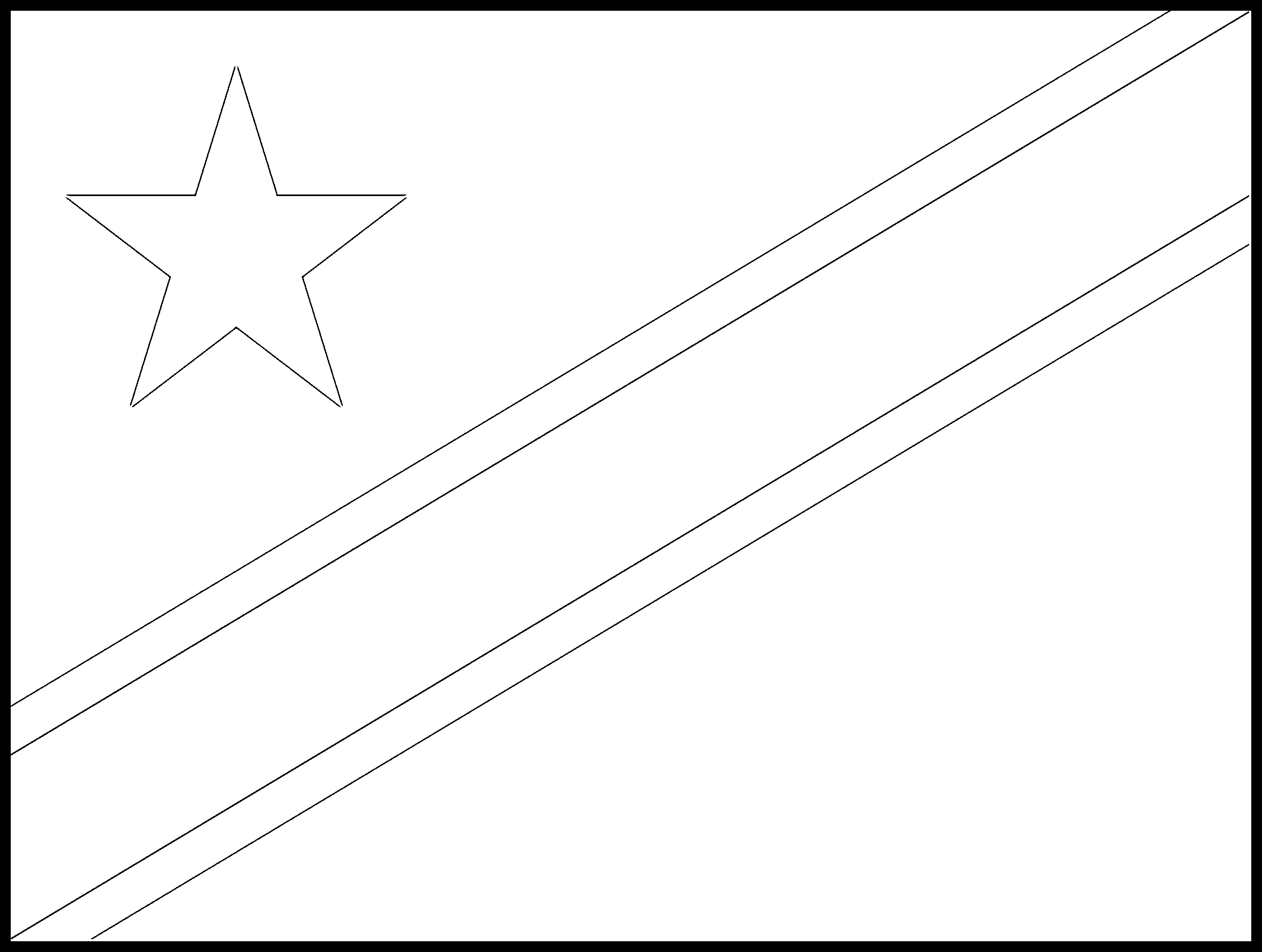 Cook_Islands Flag Colouring Page