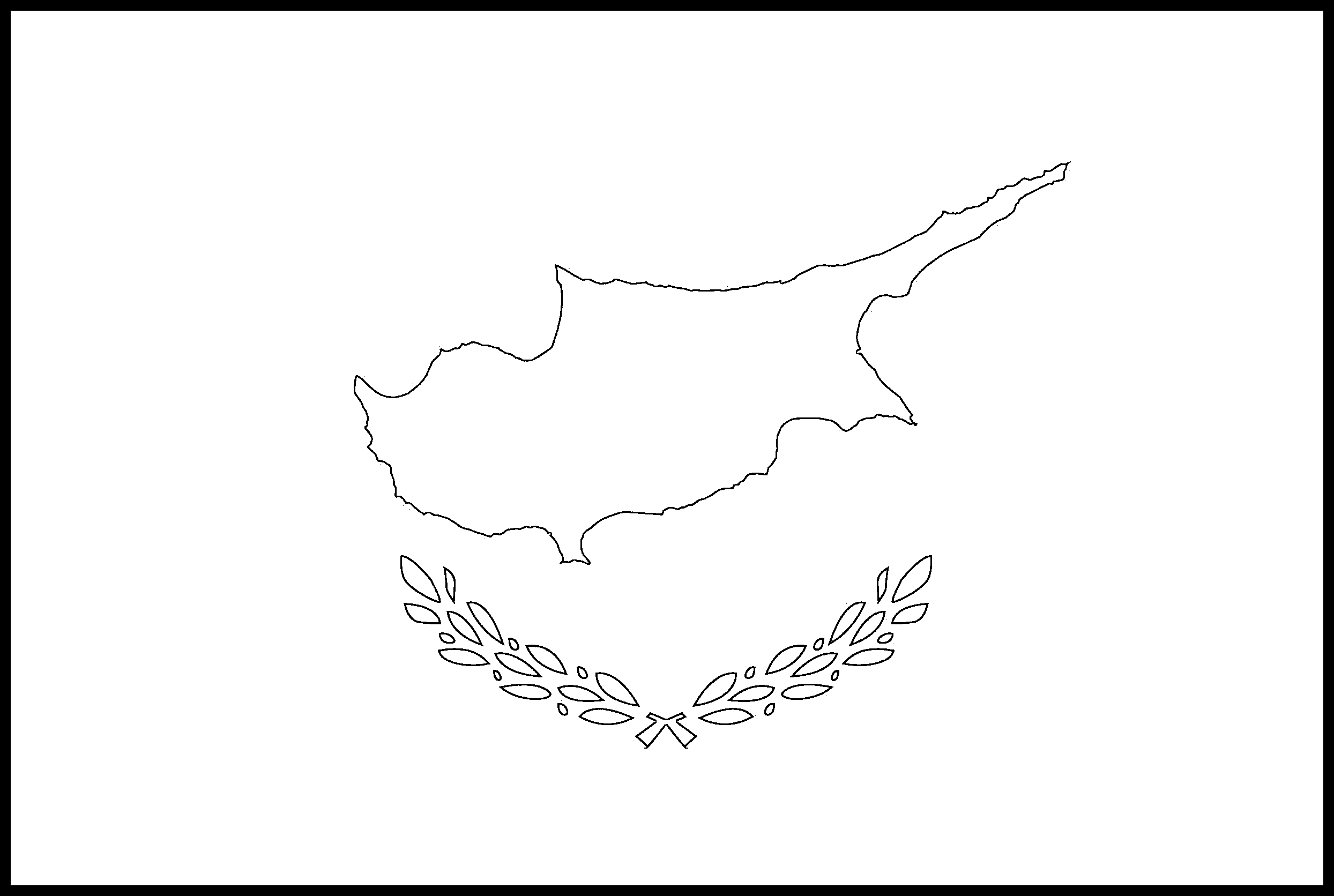 Cyprus Flag Colouring Page