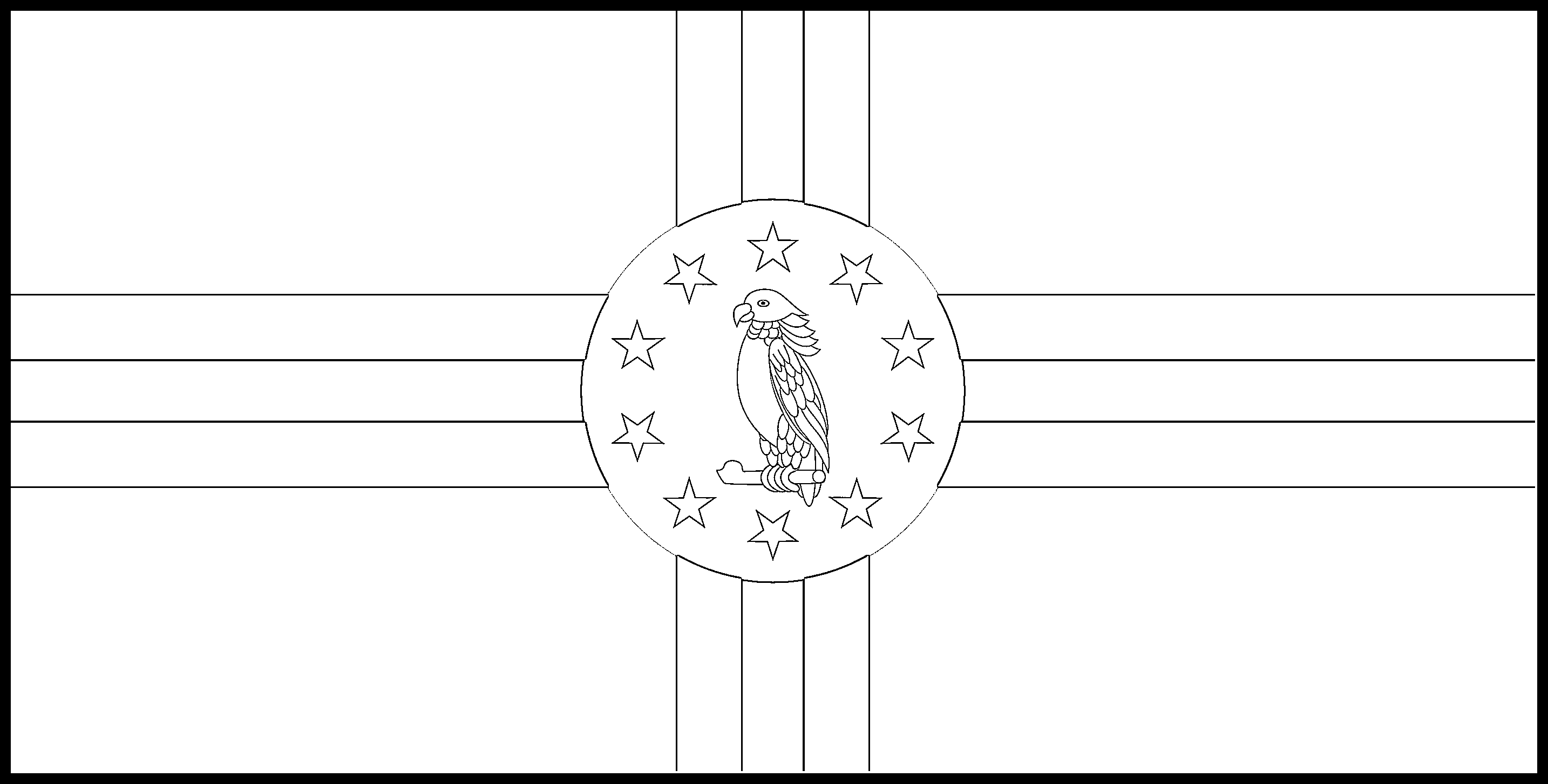 Dominica Flag Colouring Page