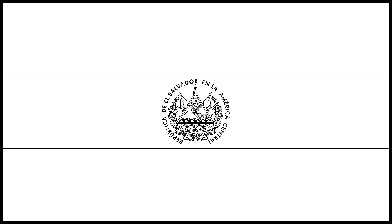 El_Salvador Flag Colouring Page