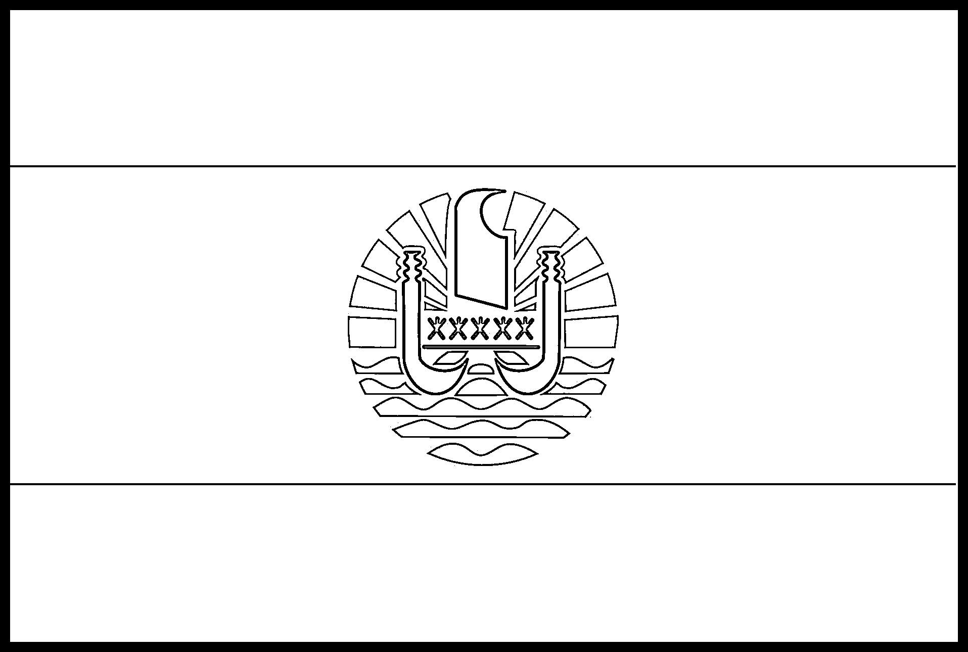 French_Polynesia Flag Colouring Page