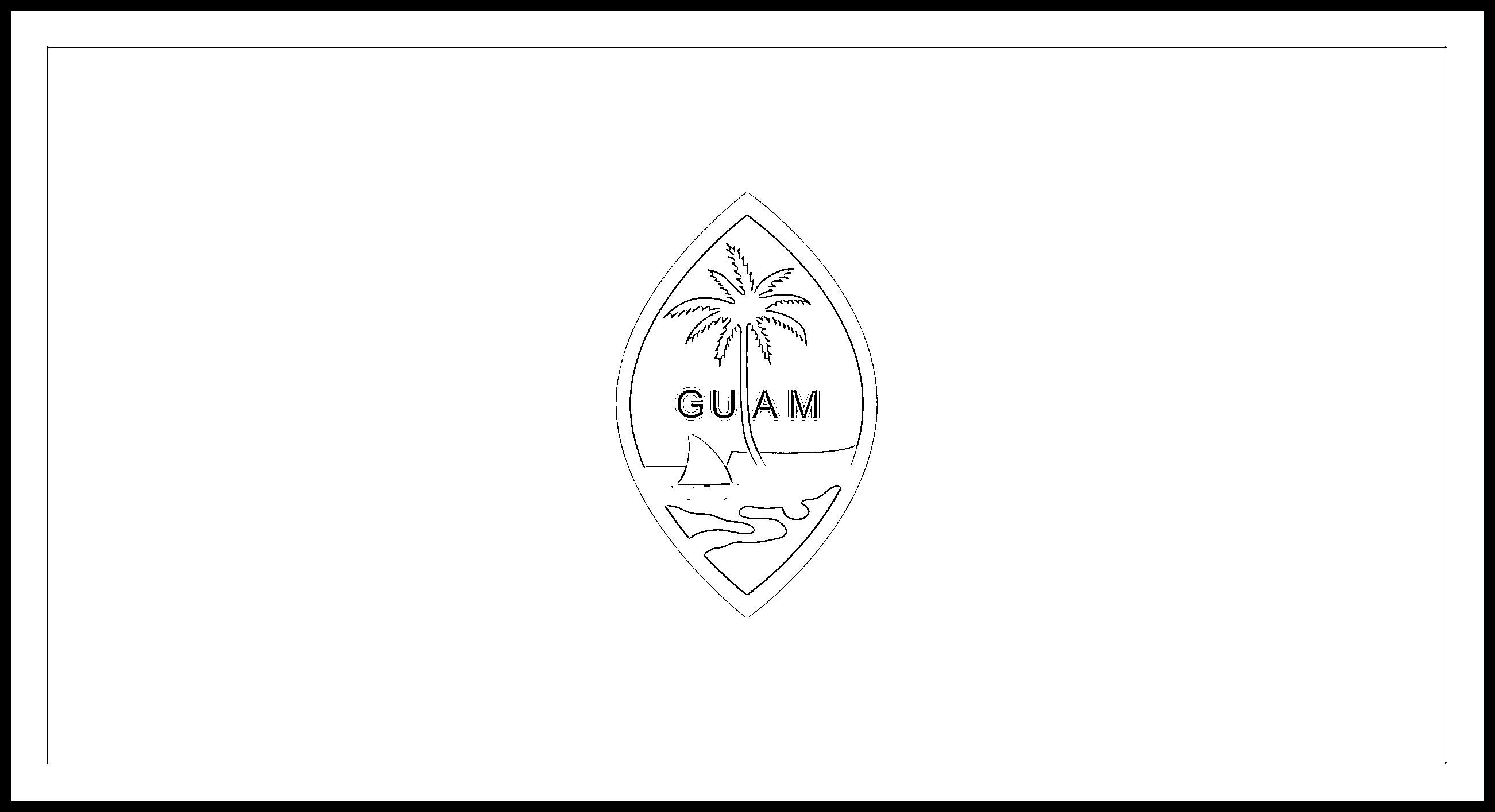 Guam Flag Colouring Page