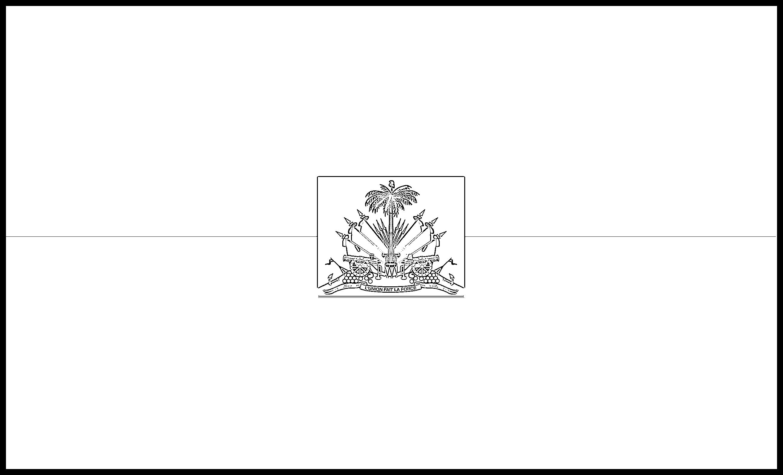 Haiti Flag Colouring Page