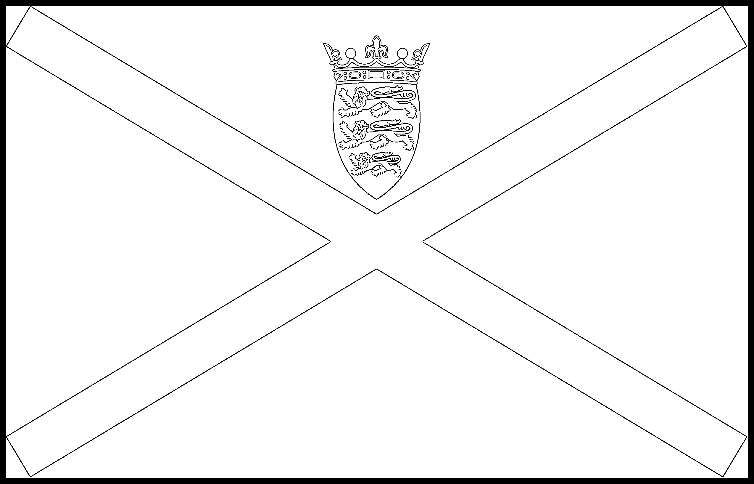 Jersey Flag Colouring Page