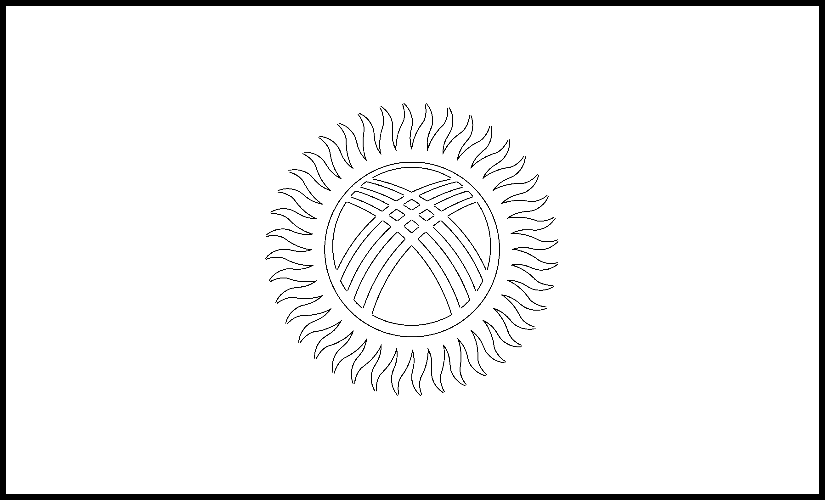 Kyrgyzstan Flag Colouring Page