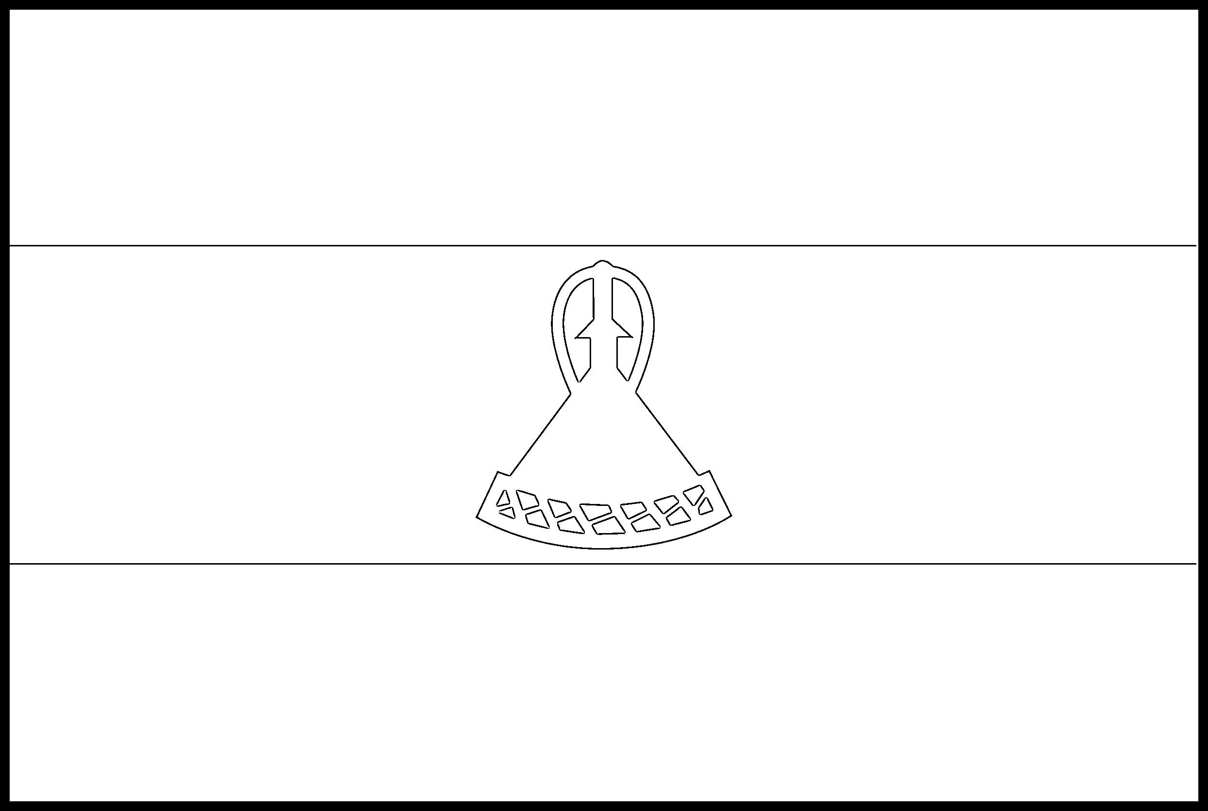 Lesotho Flag Colouring Page