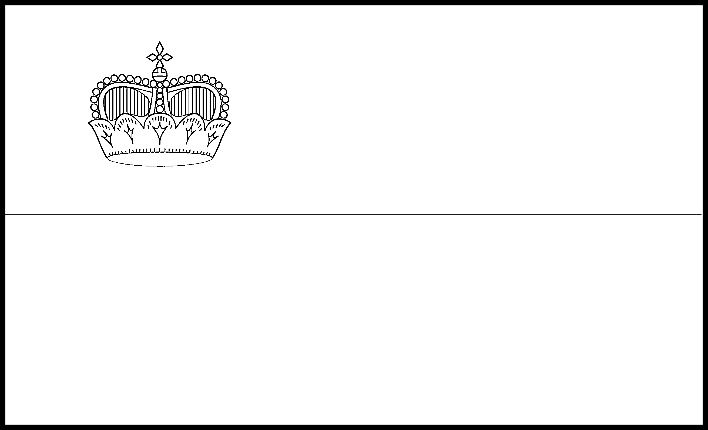 Liechtenstein Flag Colouring Page