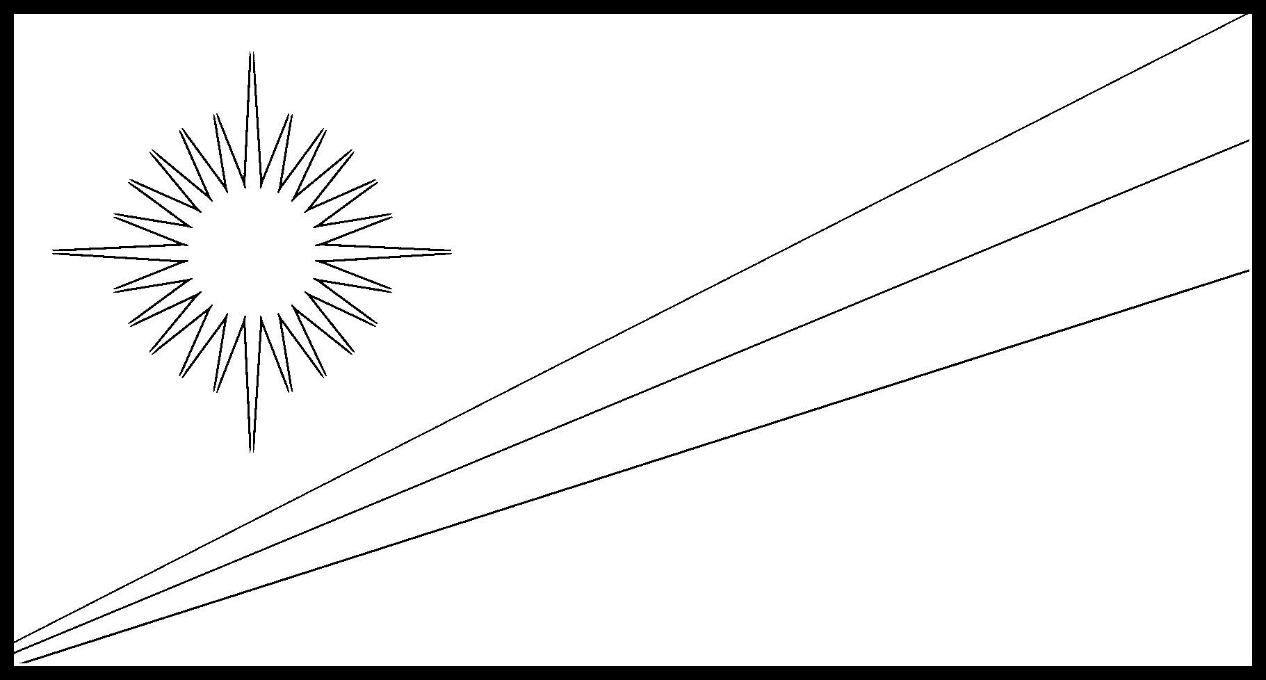 Marshall_Islands Flag Colouring Page