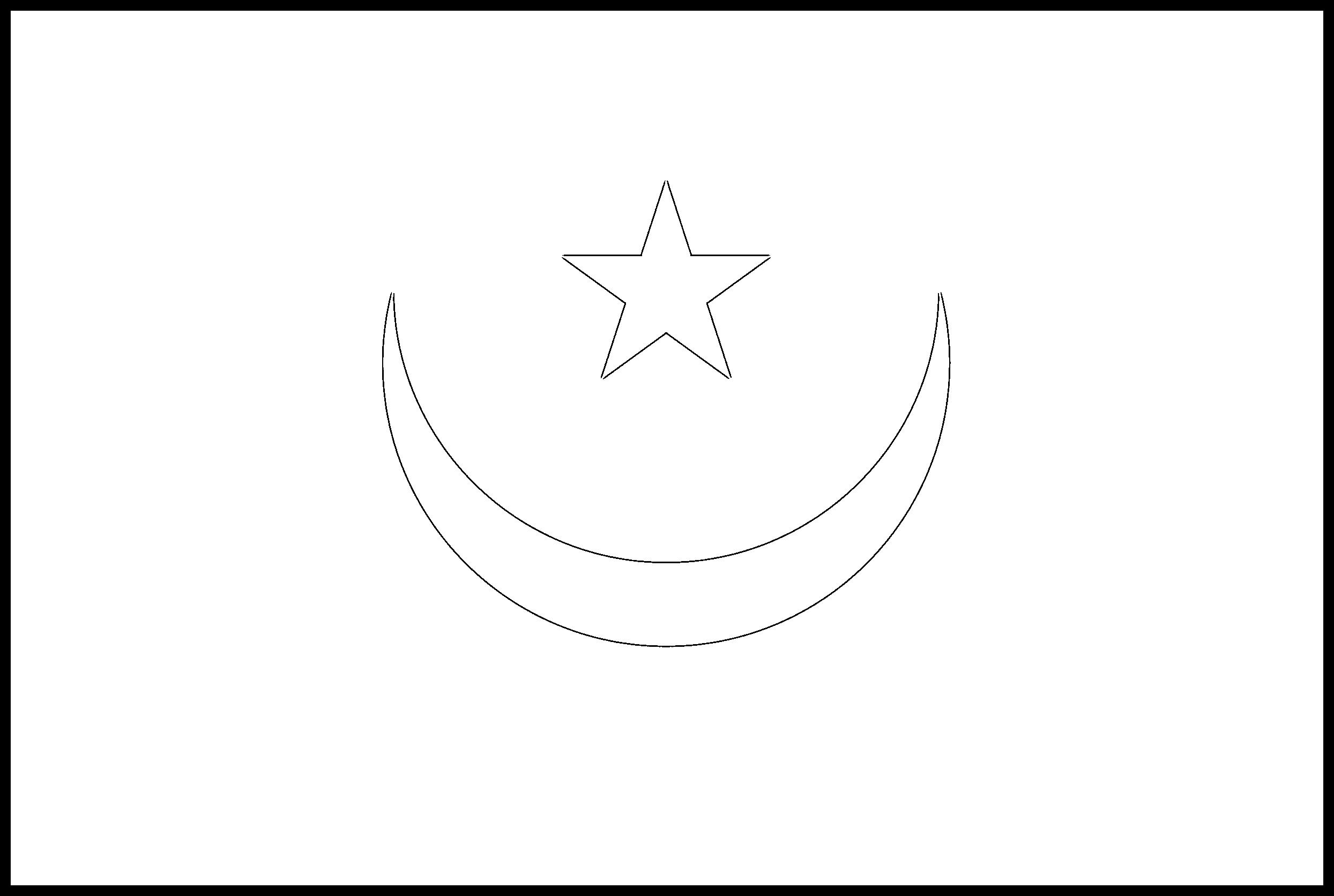 Mauritania Flag Colouring Page