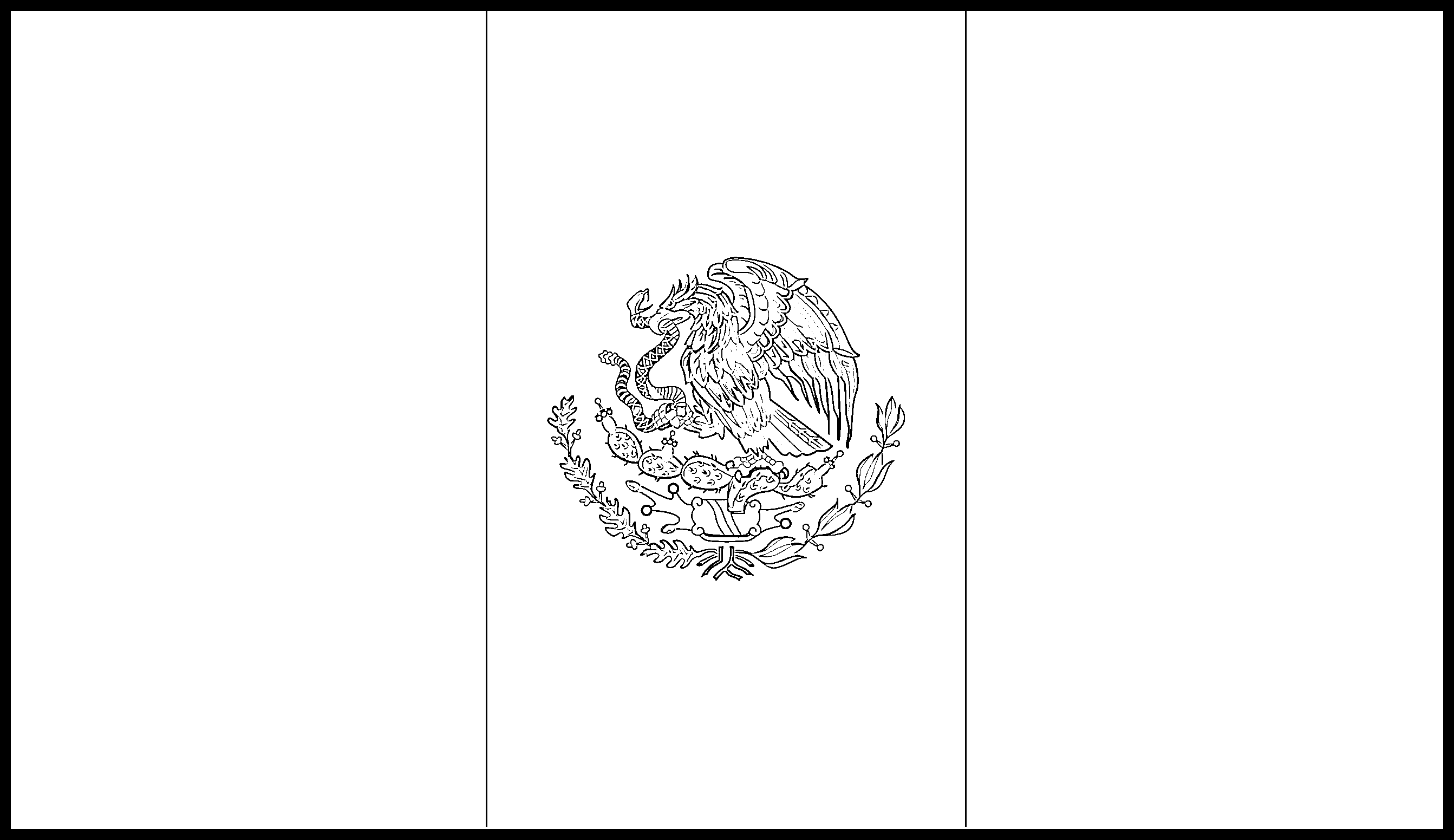 Mexico Flag Colouring Page