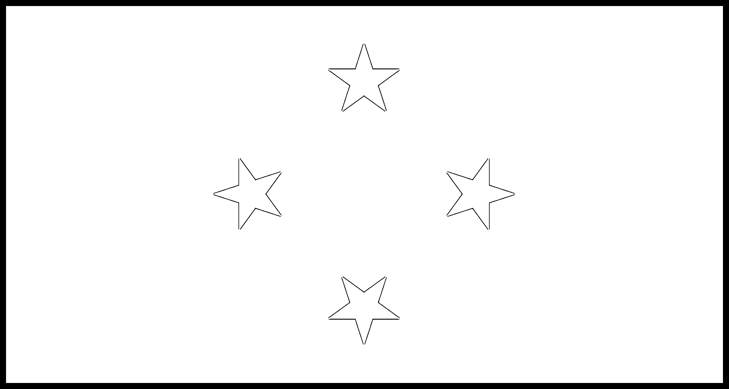 Micronesia Flag Colouring Page