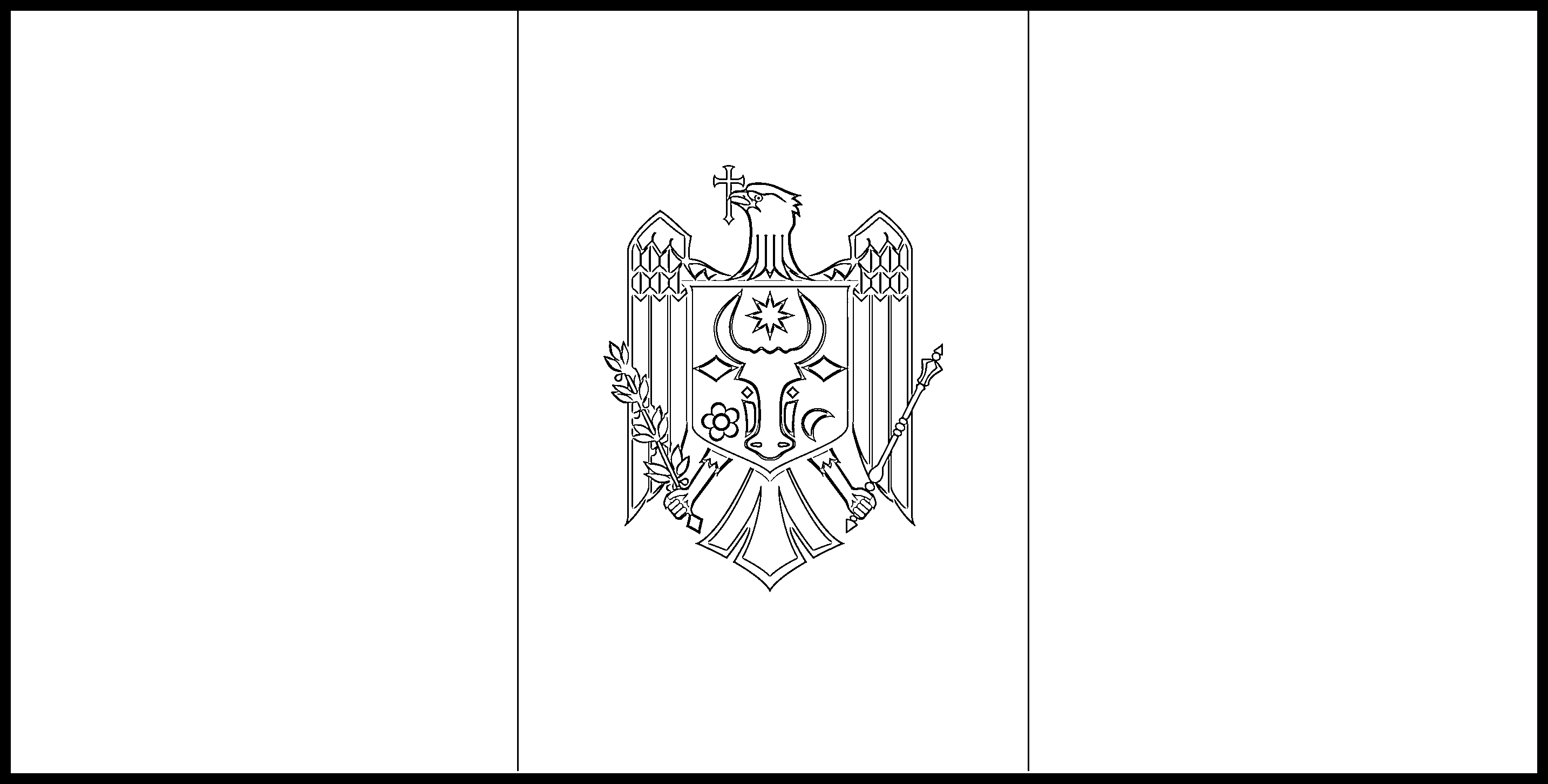 Moldova Flag Colouring Page
