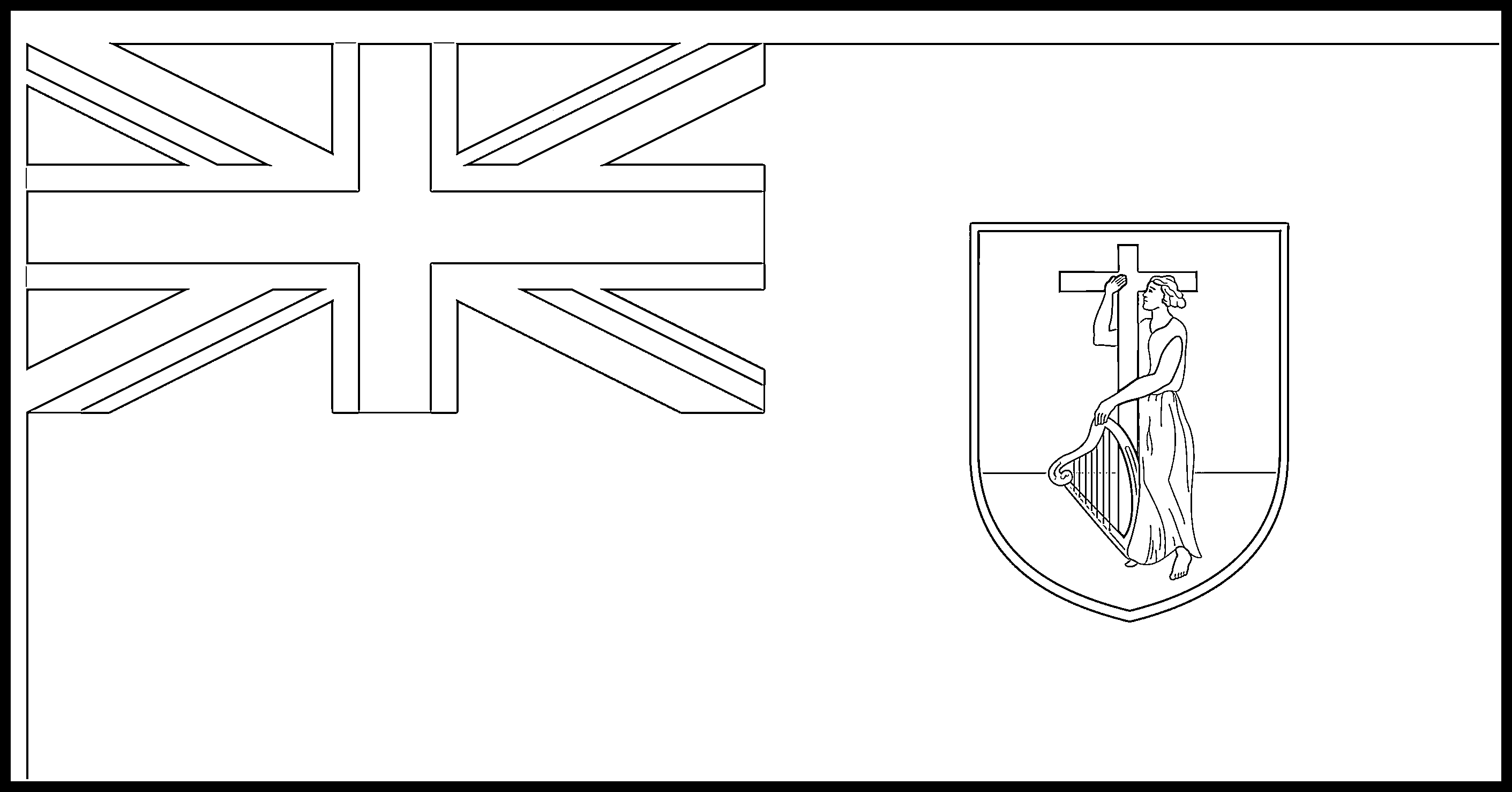 Montserrat Flag Colouring Page