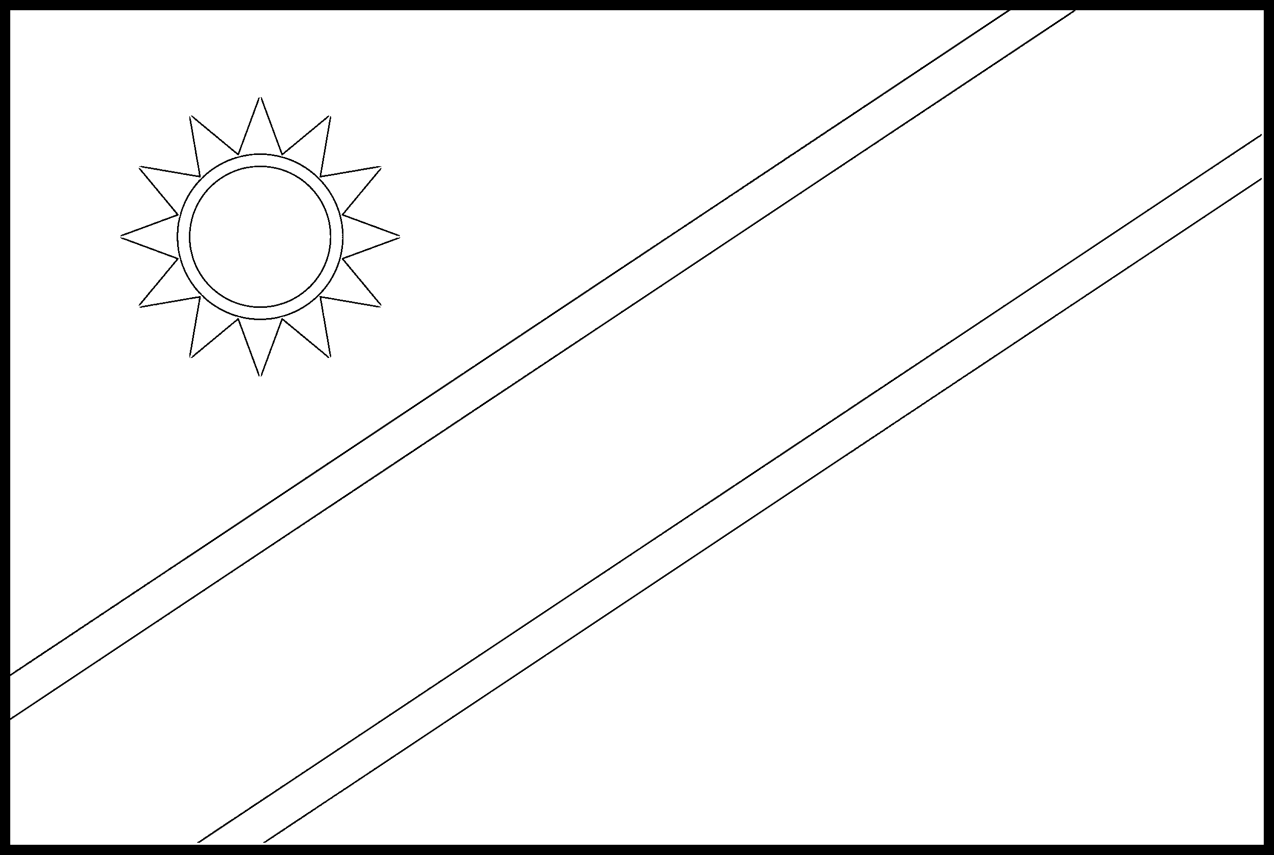 Namibia Flag Colouring Page