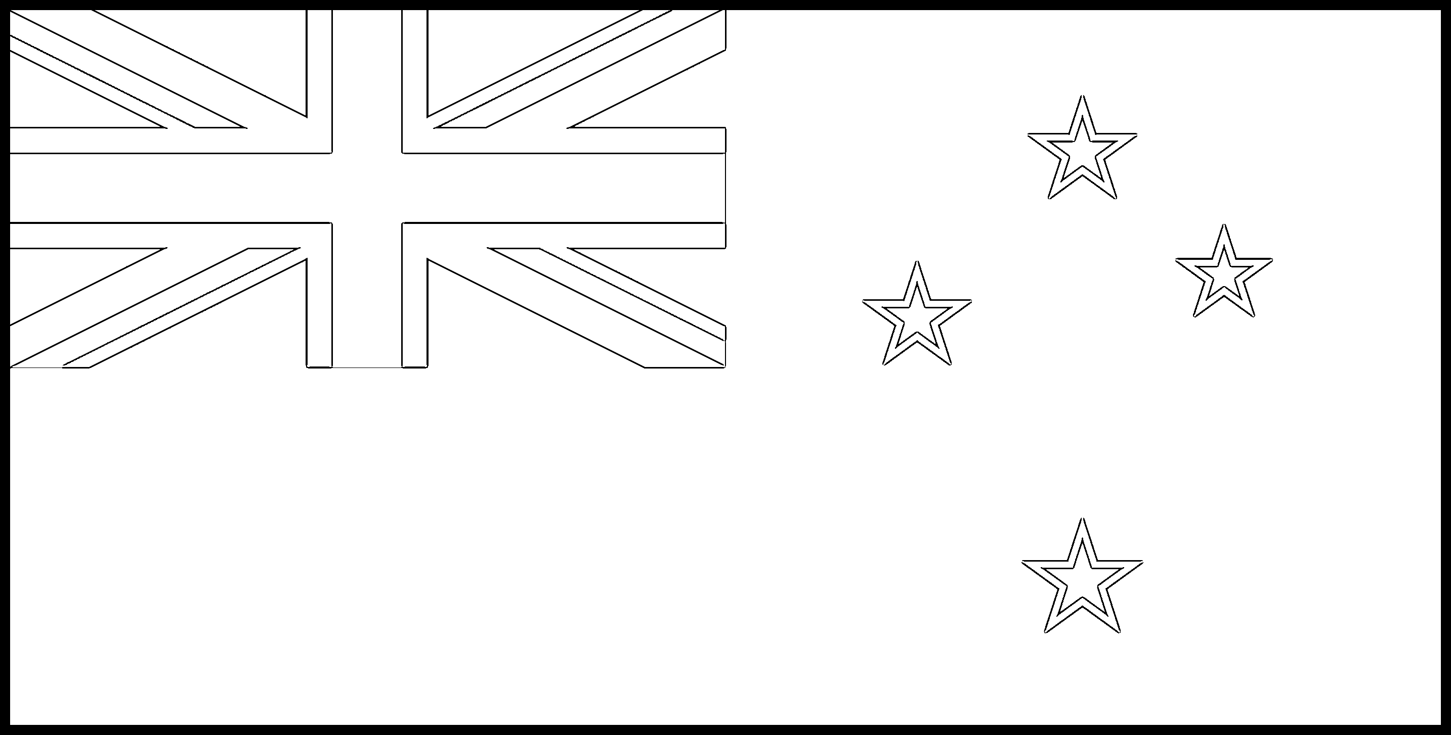 New_Zealand Flag Colouring Page