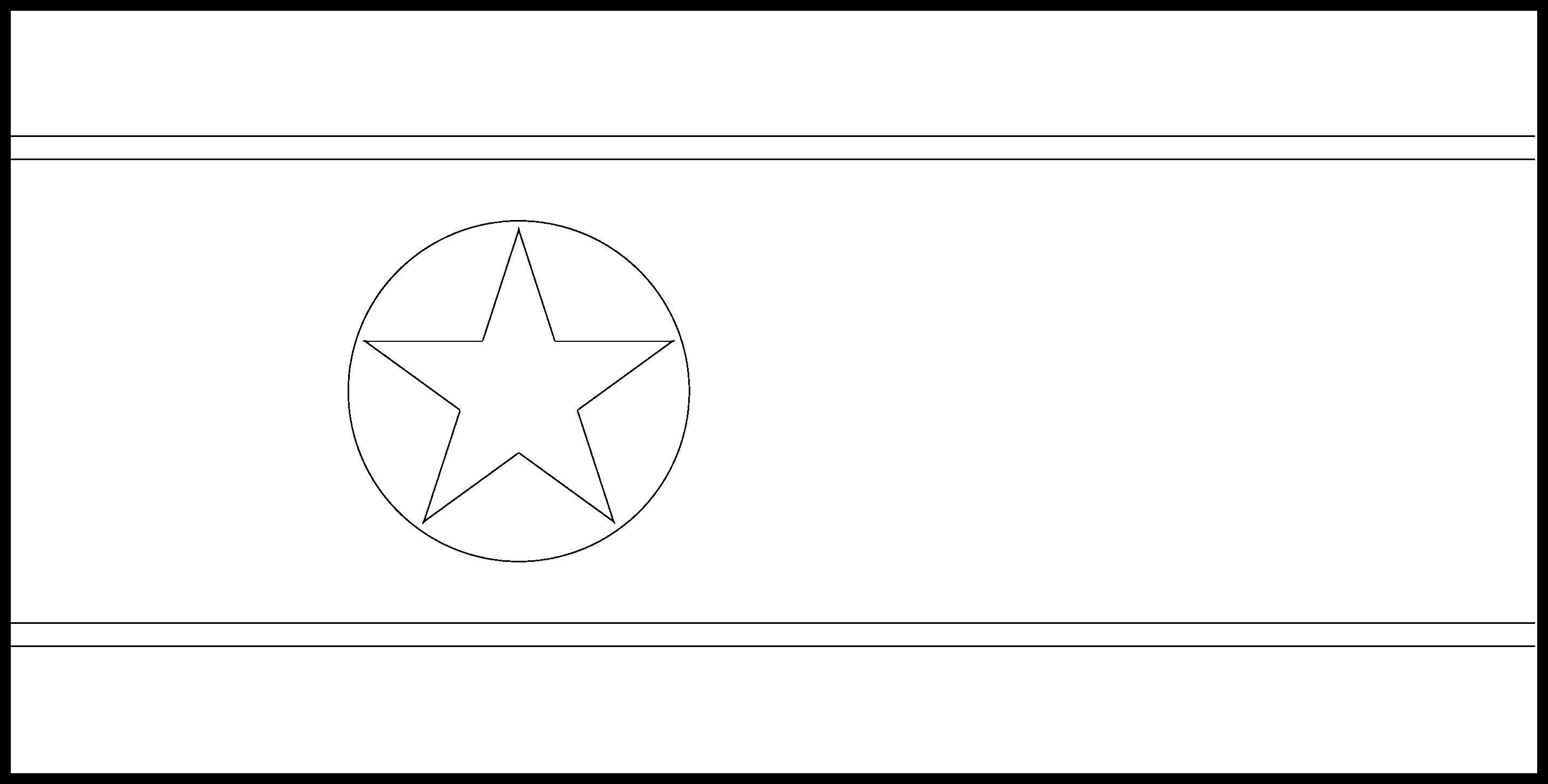 North_Korea Flag Colouring Page