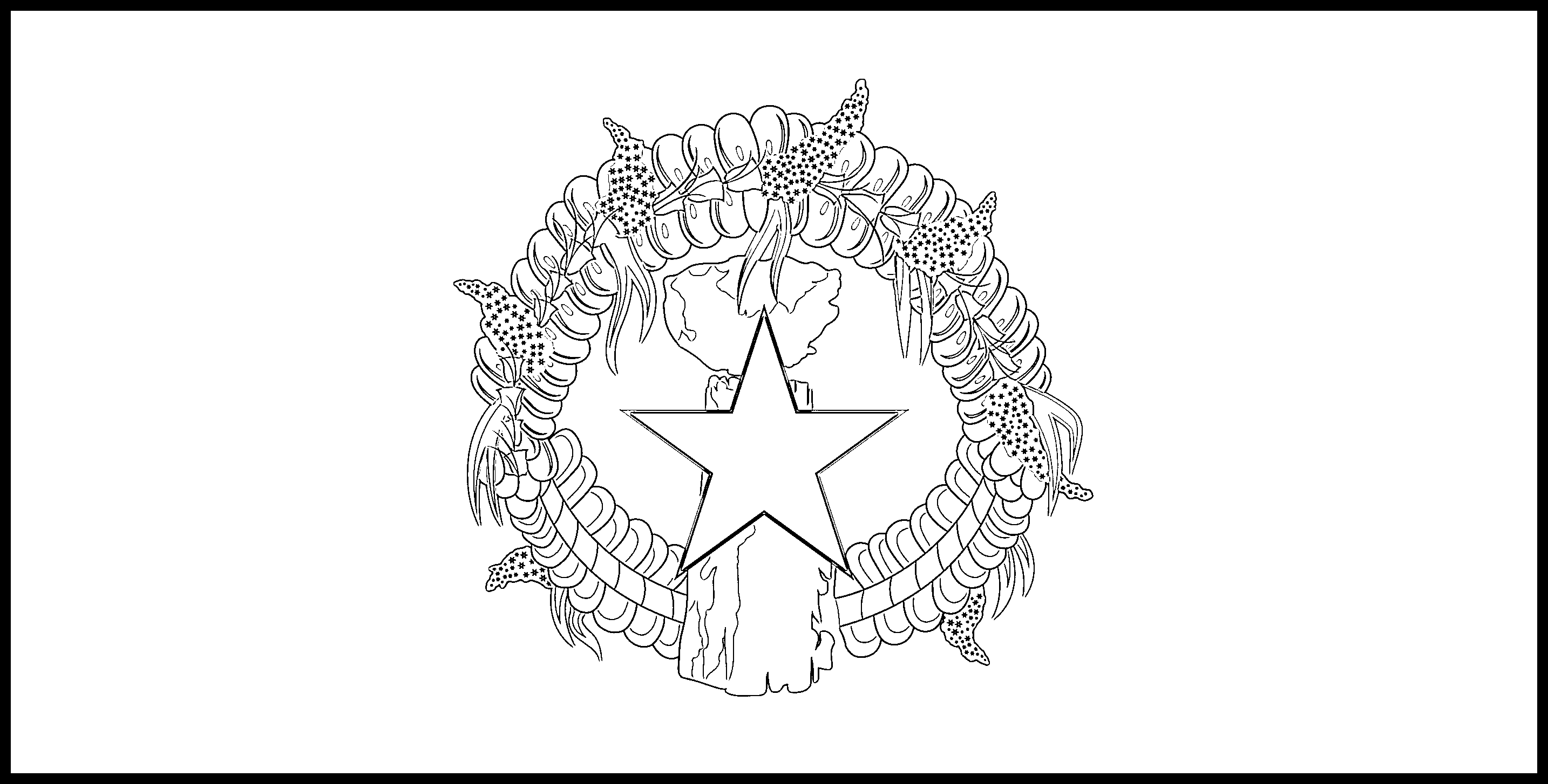 Northern_Mariana_Islands Flag Colouring Page