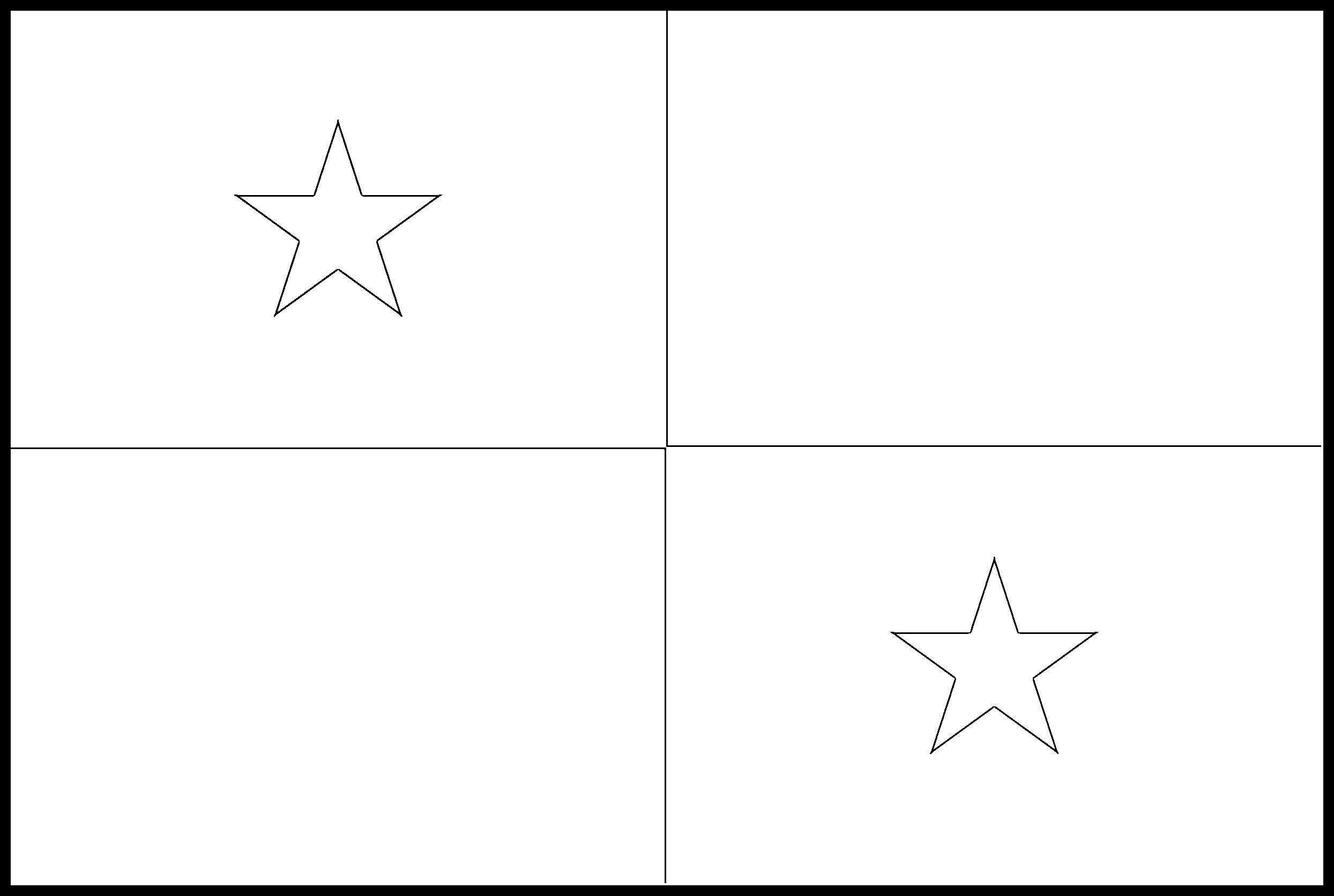 Panama Flag Colouring Page