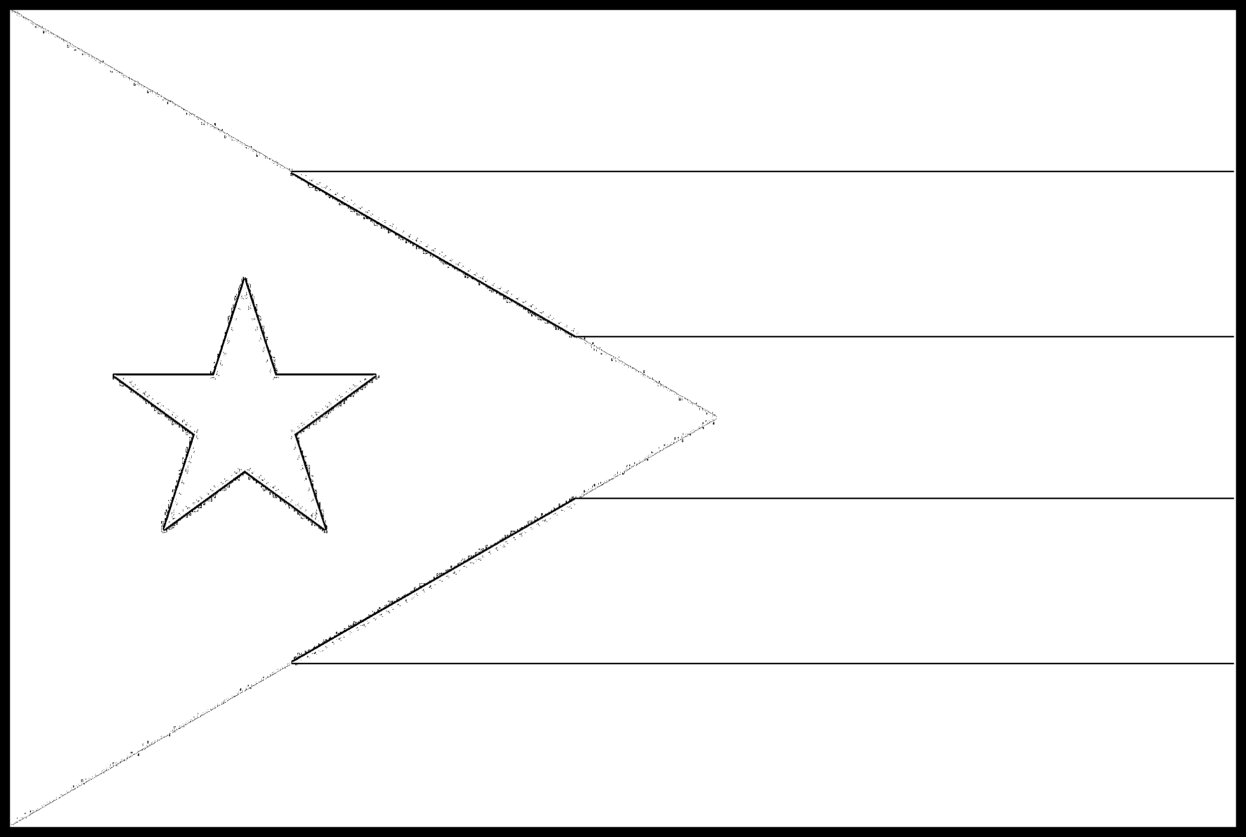 Puerto_Rico Flag Colouring Page