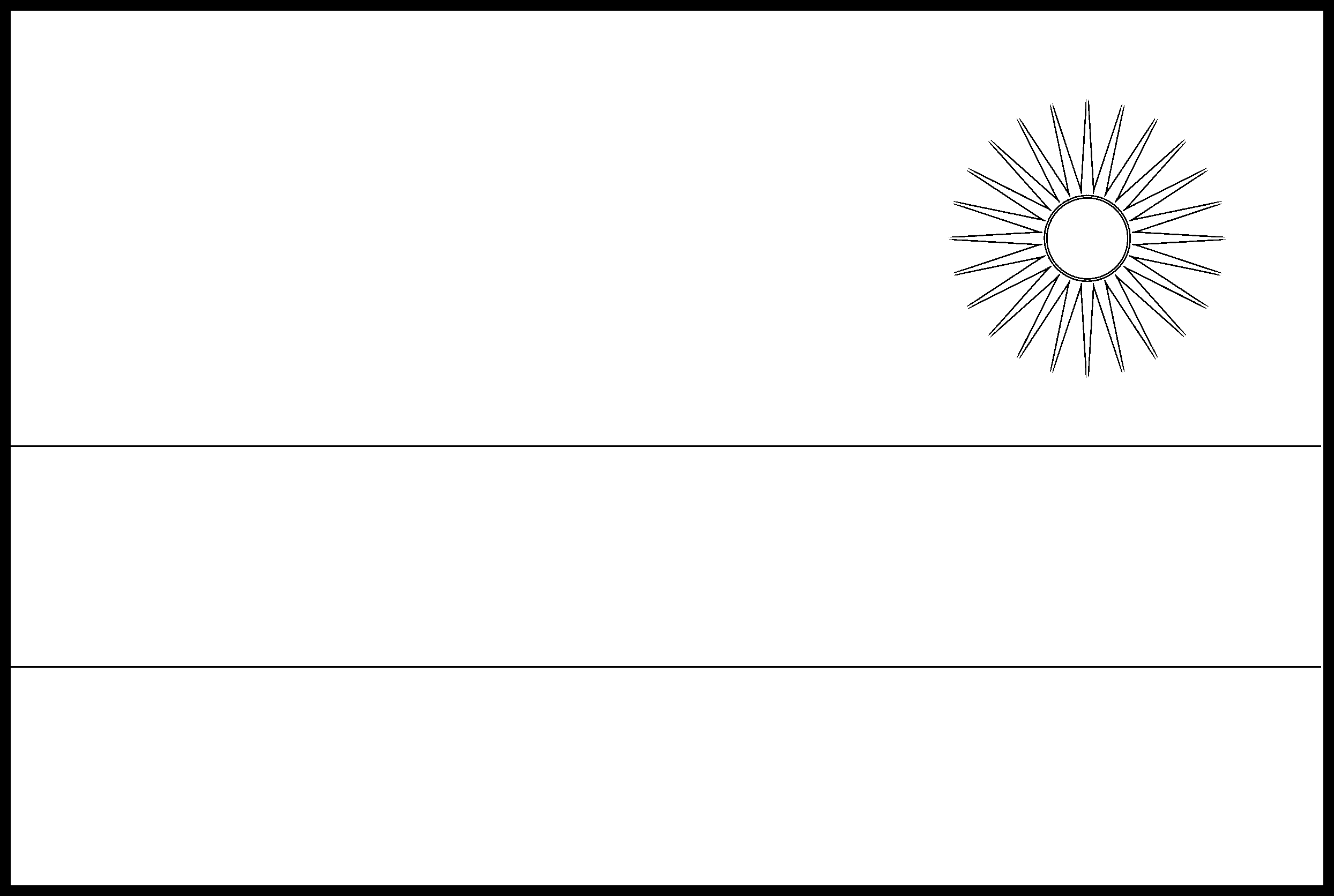 Rwanda Flag Colouring Page