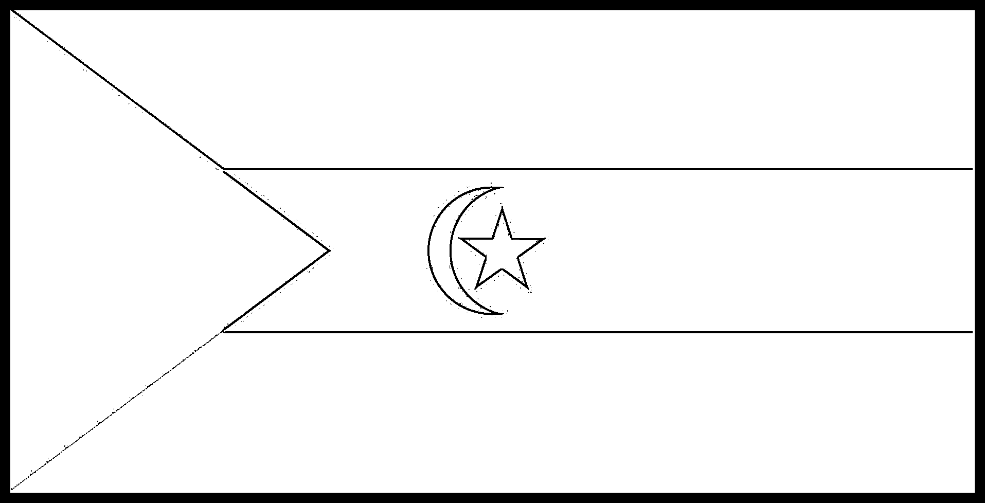 Sahrawi_Arab_Democratic_Republic Flag Colouring Page
