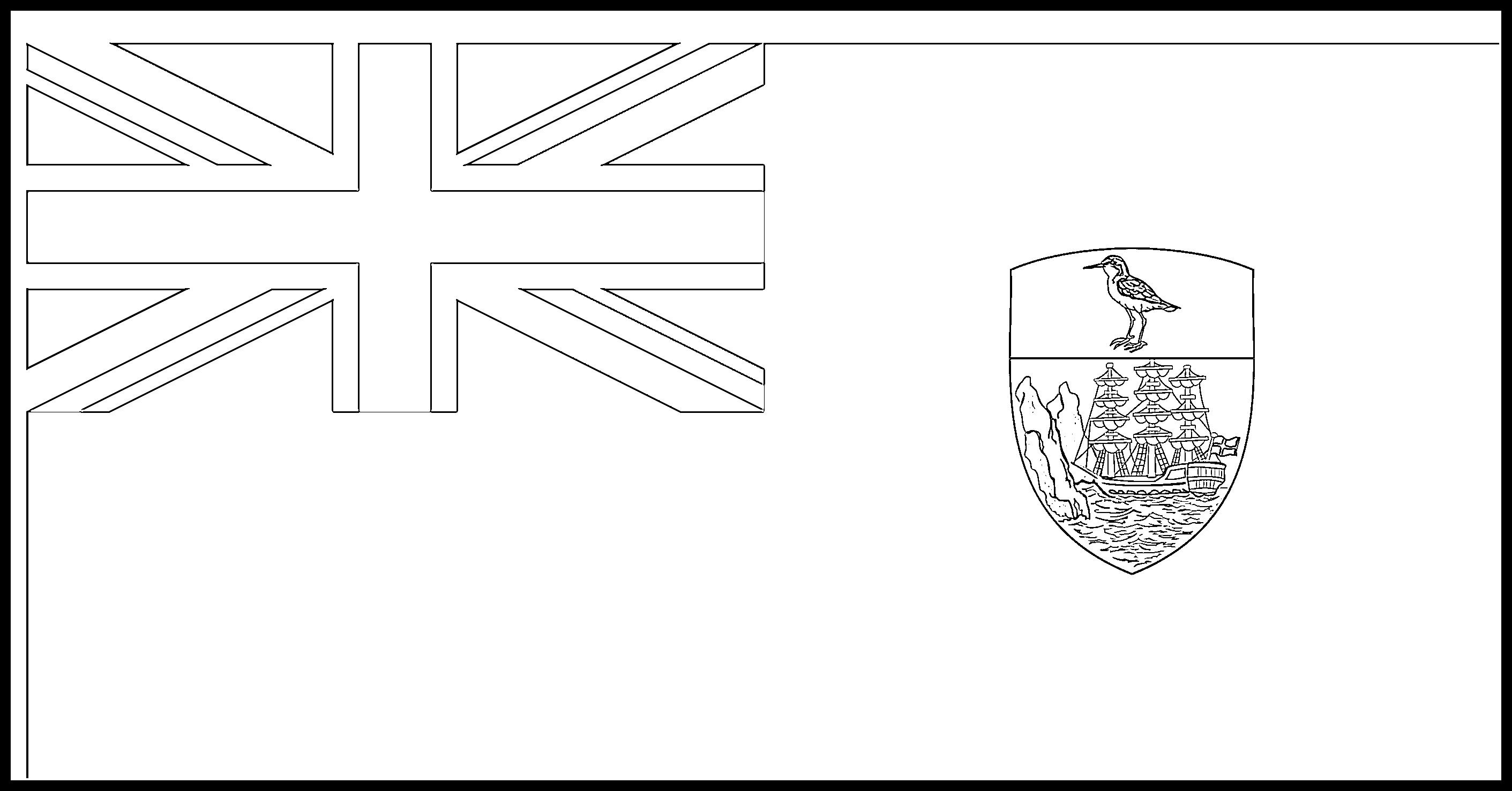 Saint_Helena Flag Colouring Page