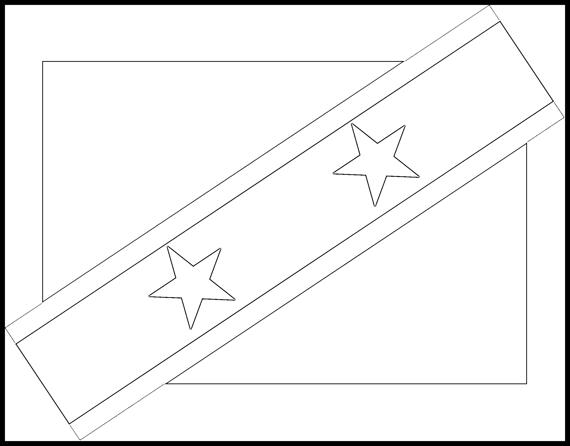 Saint_Kitts_and_Nevis Flag Colouring Page