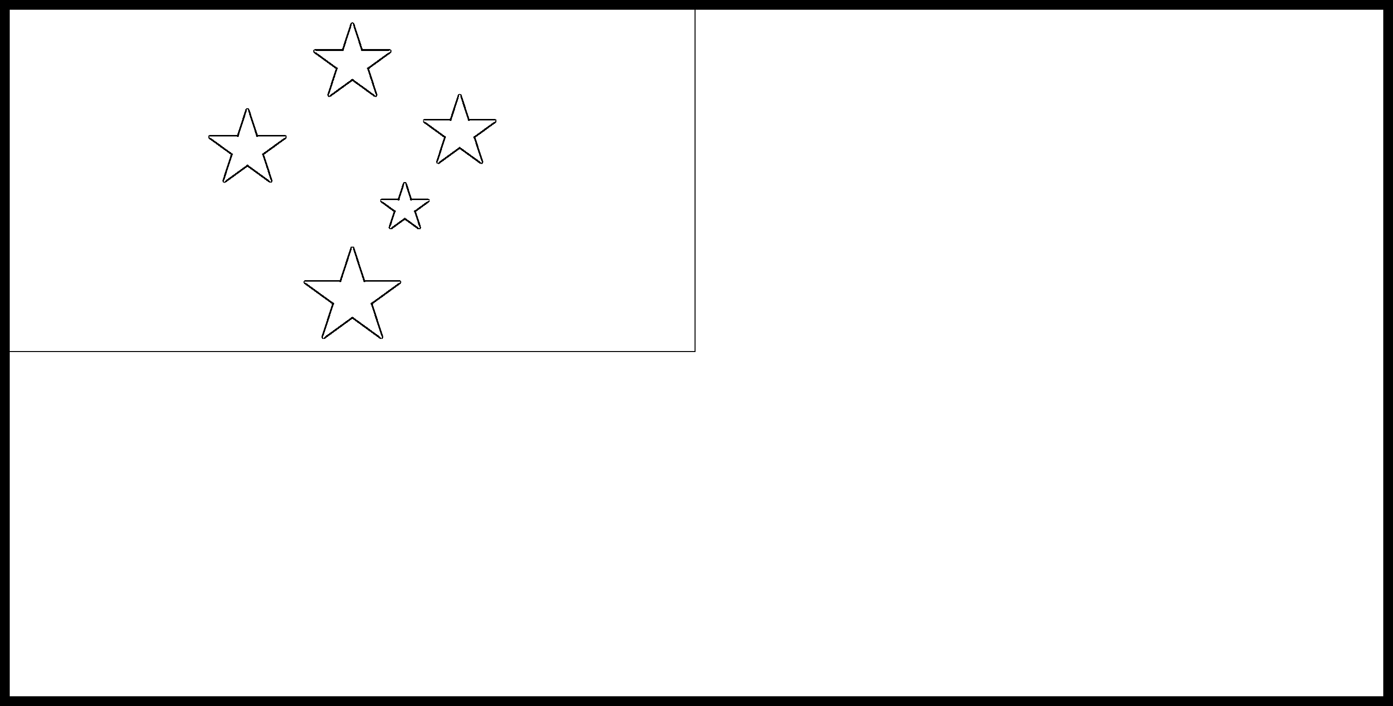 Samoa Flag Colouring Page