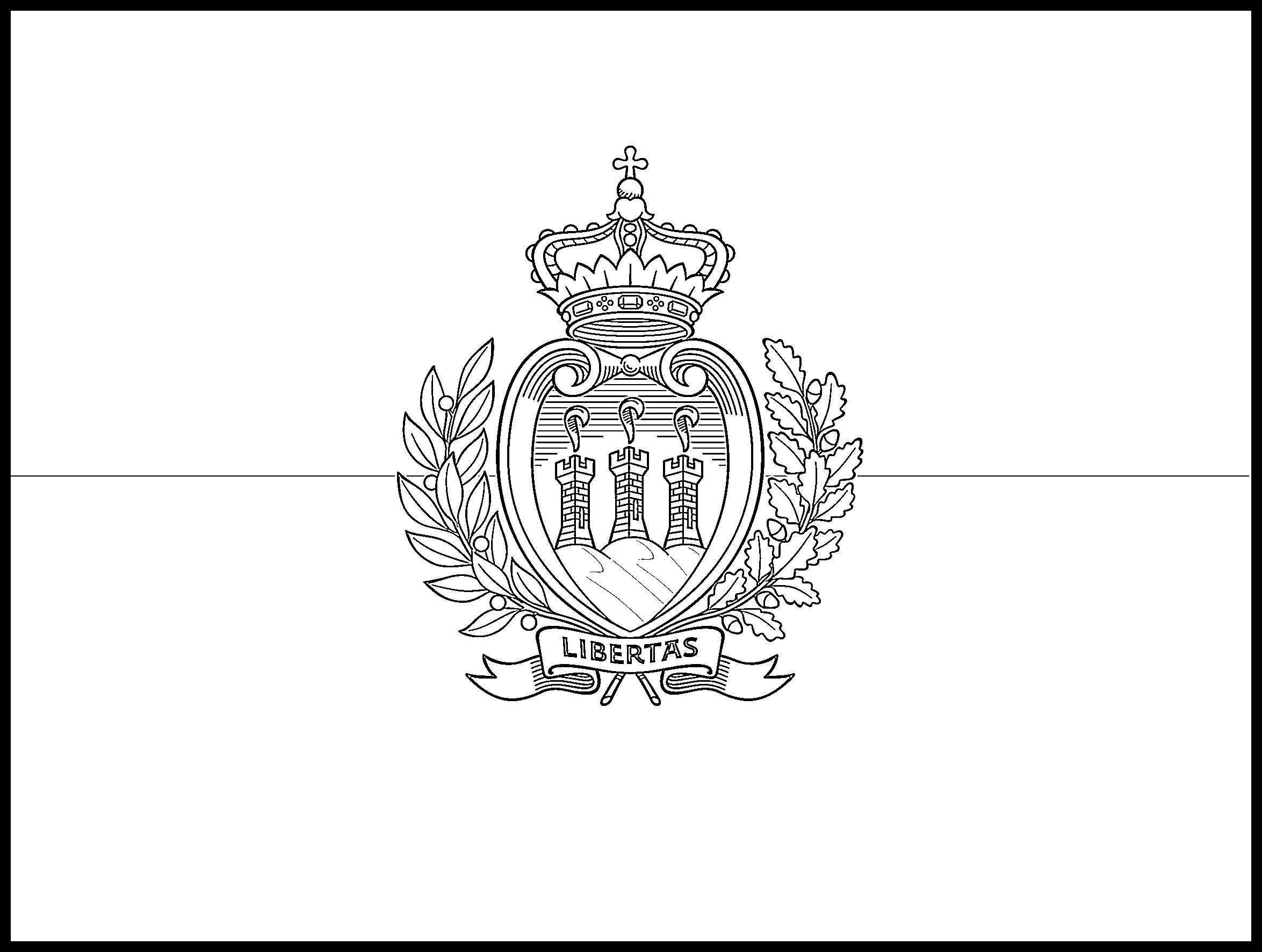 San_Marino Flag Colouring Page