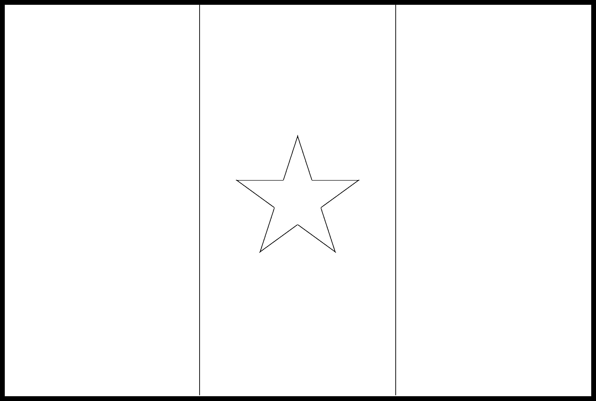 Senegal Flag Colouring Page