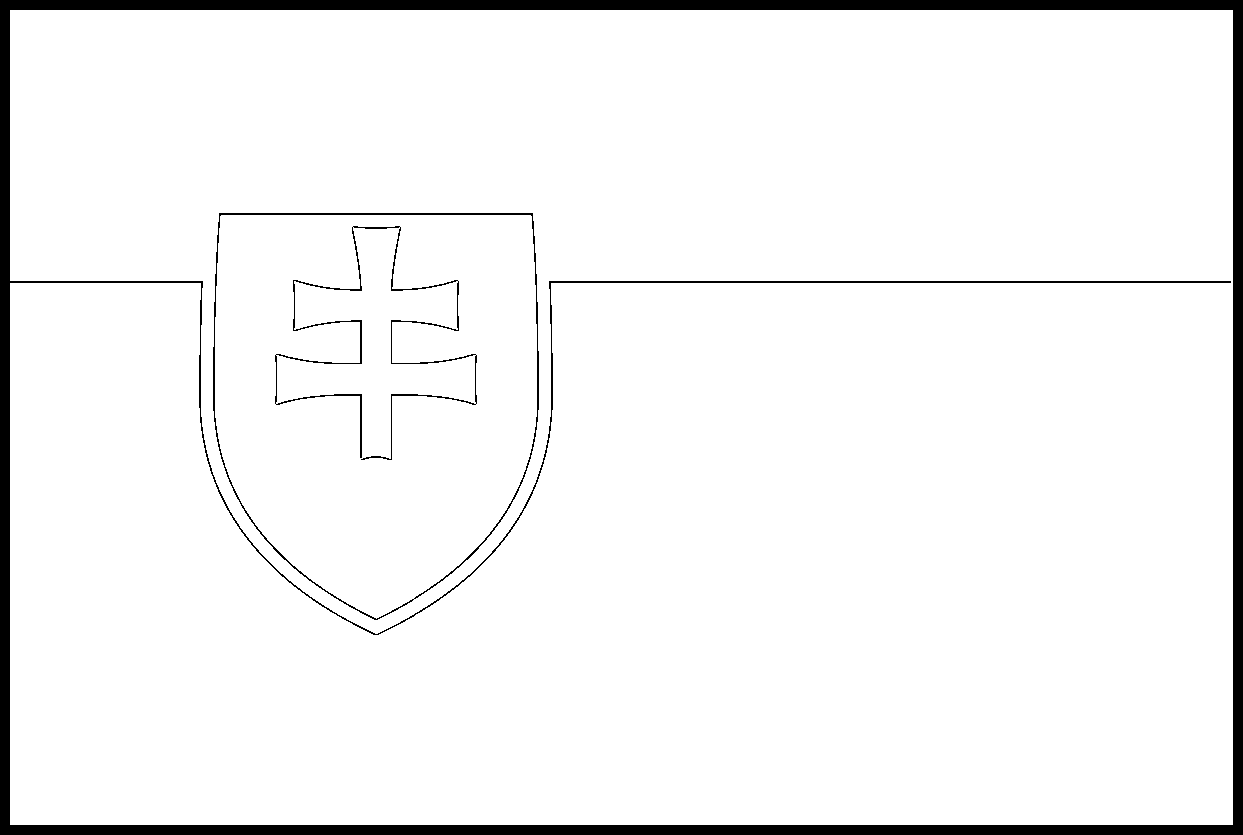 Slovakia Flag Colouring Page