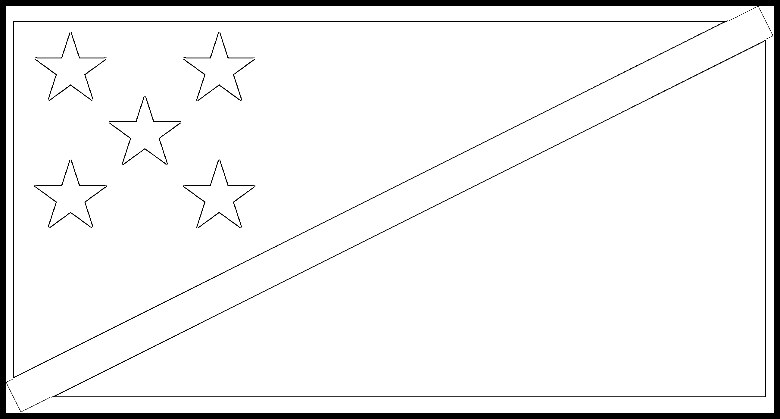 Solomon_Islands Flag Colouring Page