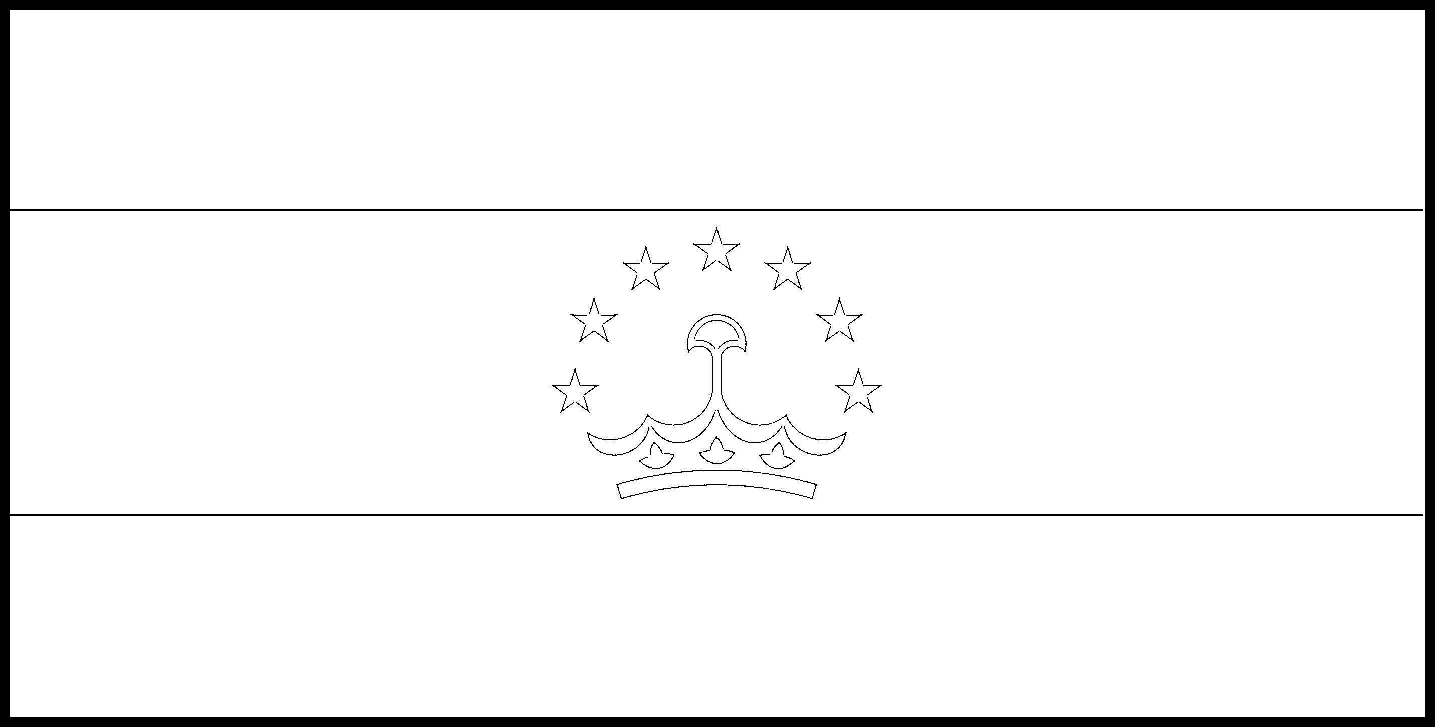 Tajikistan Flag Colouring Page