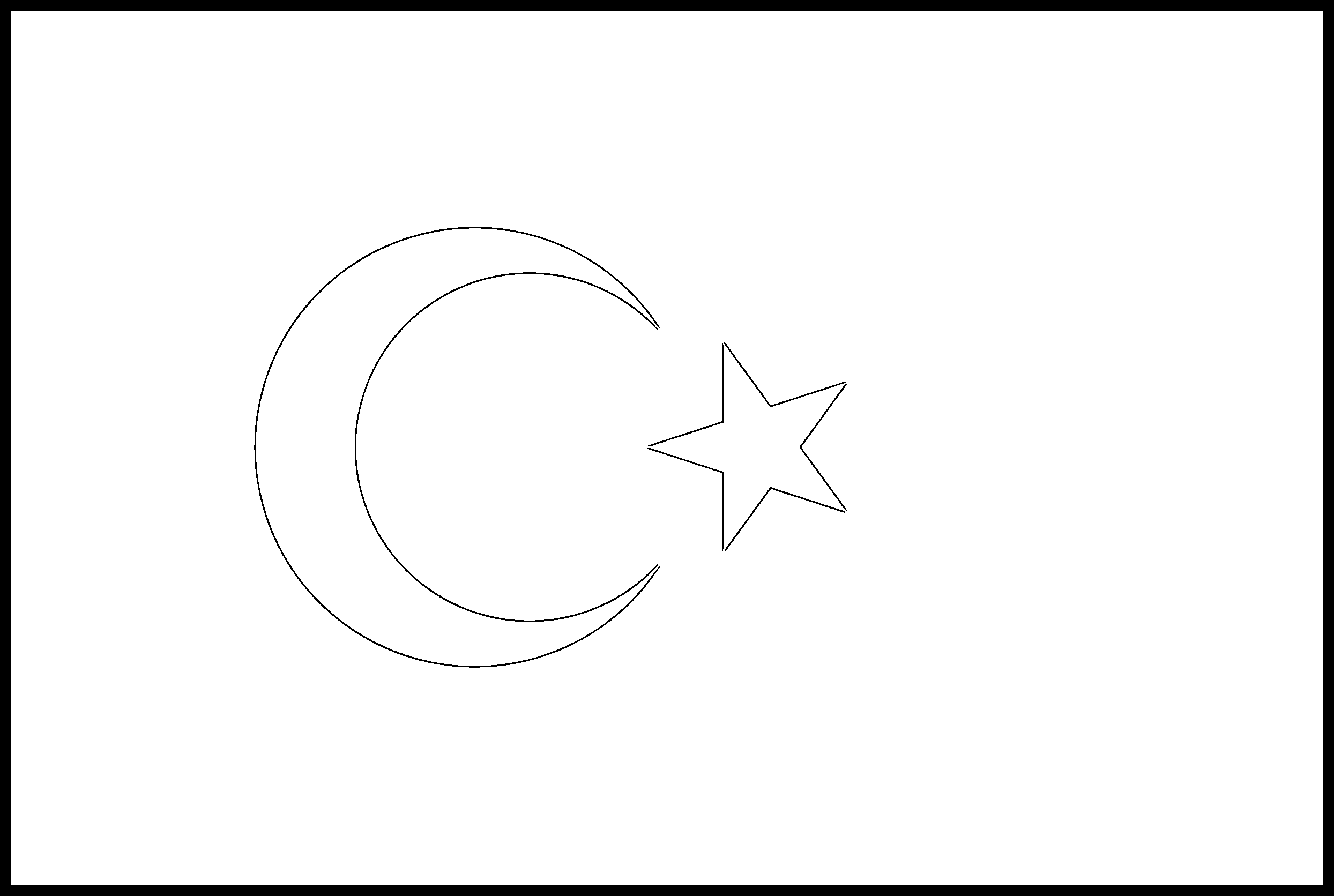 Turkey Flag Colouring Page
