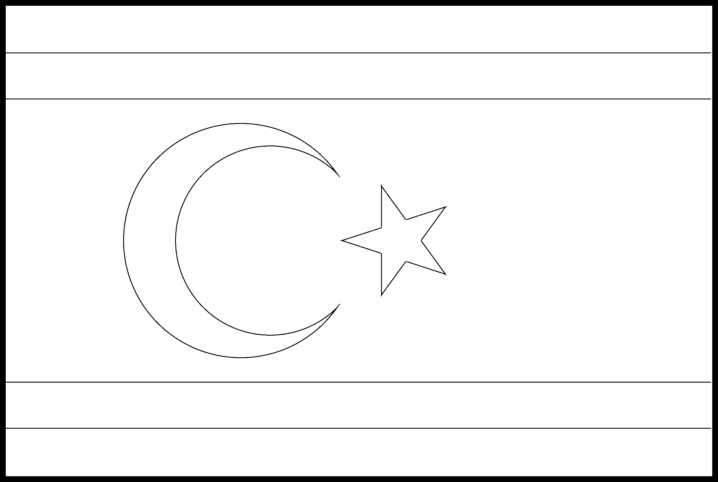 Turkish_Republic_of_Northern_Cyprus Flag Colouring Page