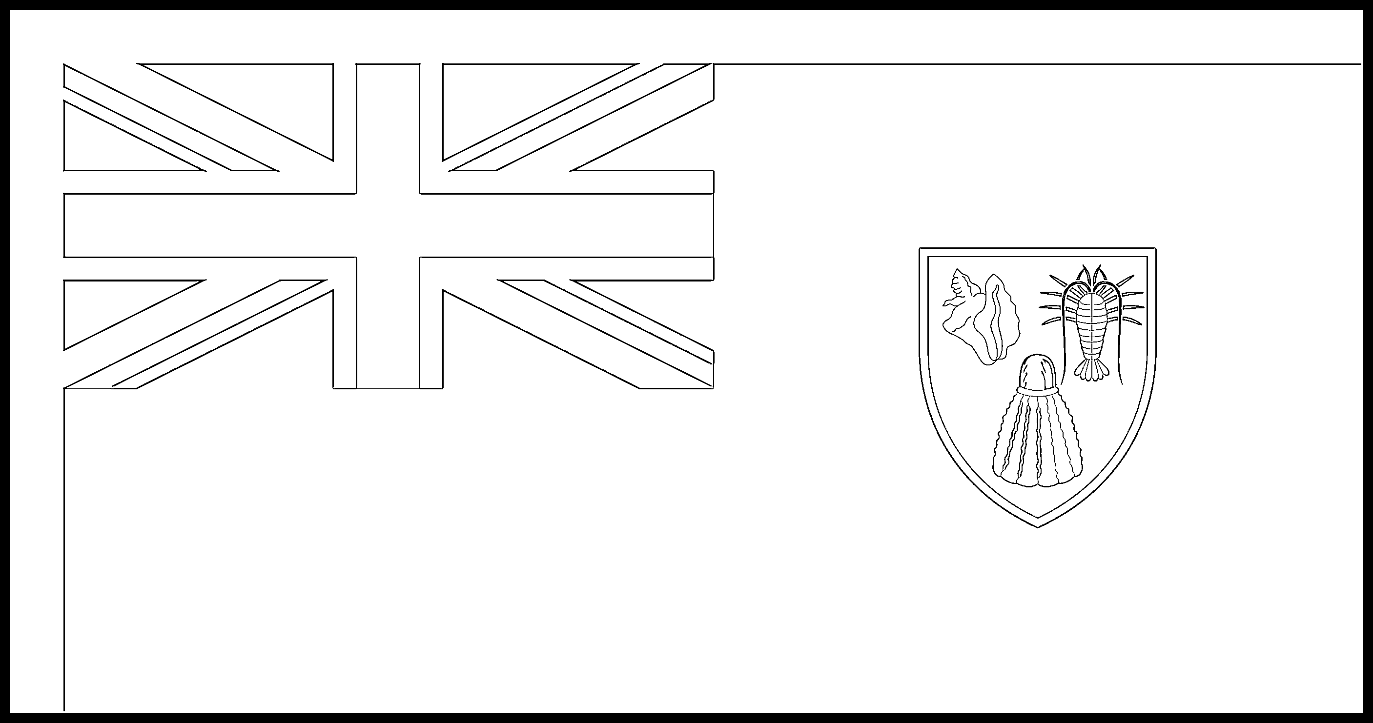 Turks_and_Caicos_Islands Flag Colouring Page