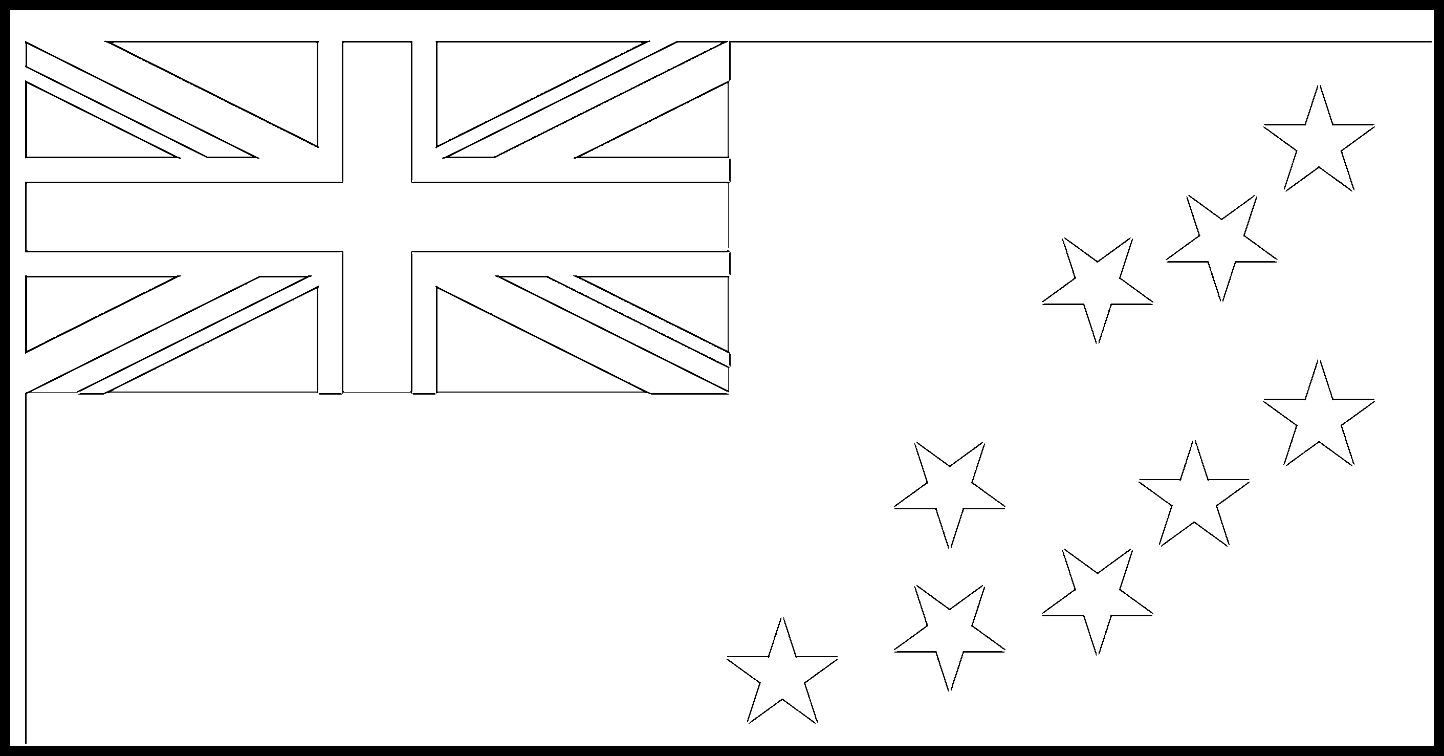 Tuvalu Flag Colouring Page