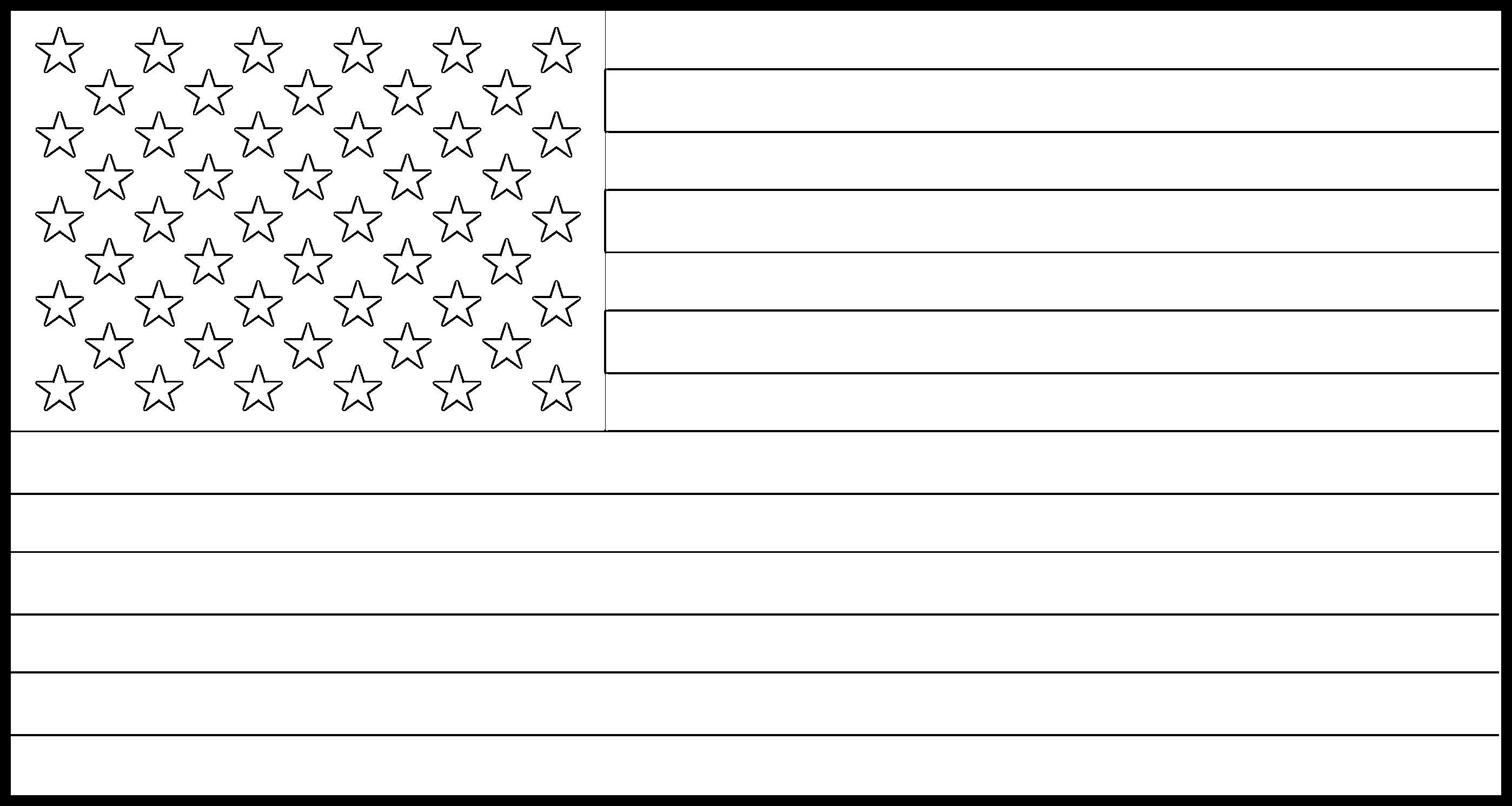 United_States Flag Colouring Page