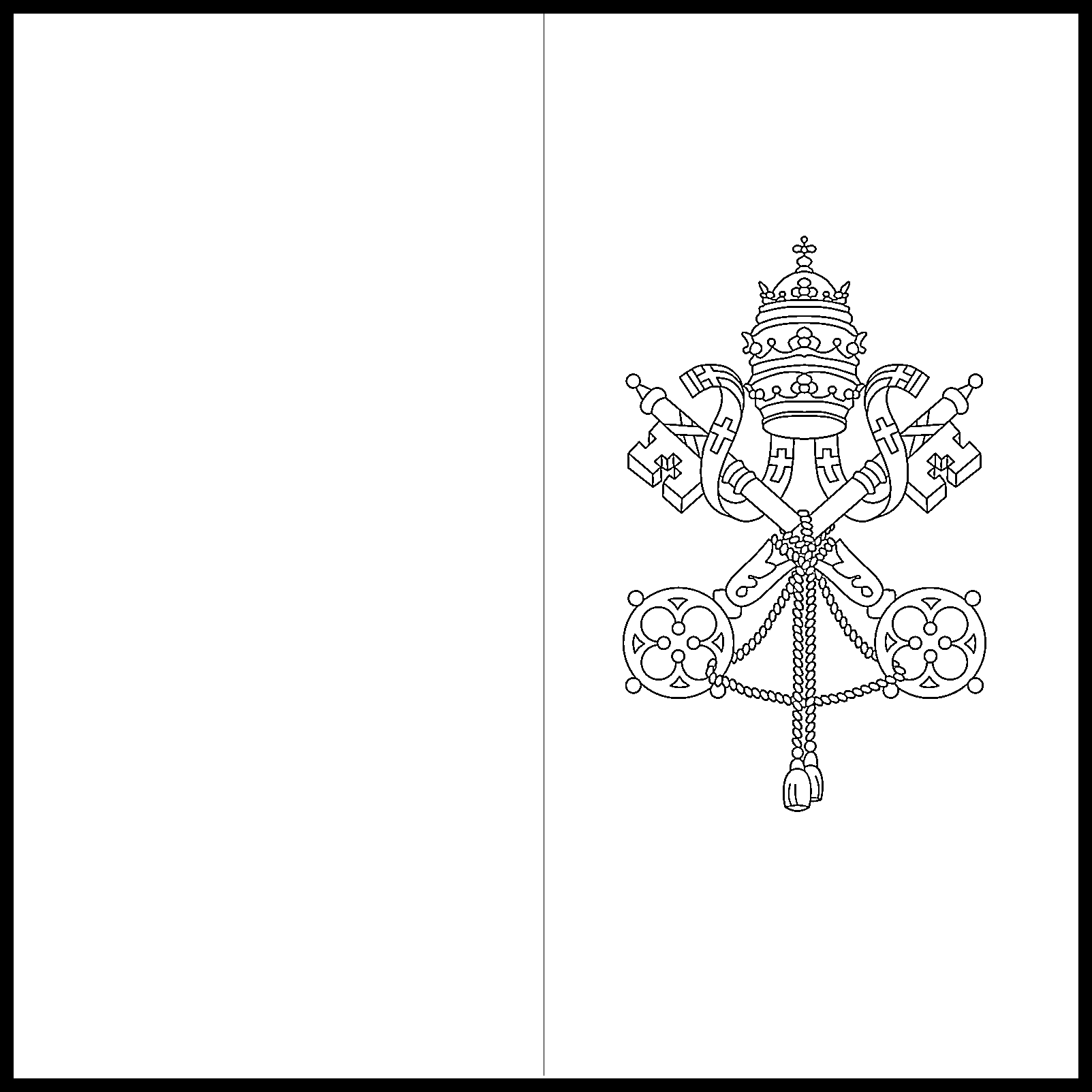 Vatican_City Flag Colouring Page
