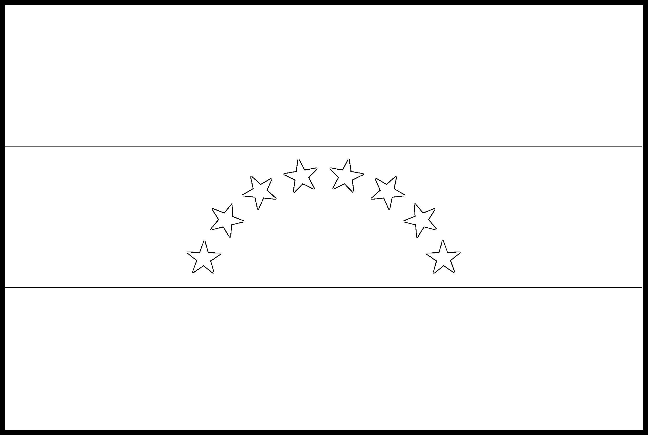 Venezuela Flag Colouring Page